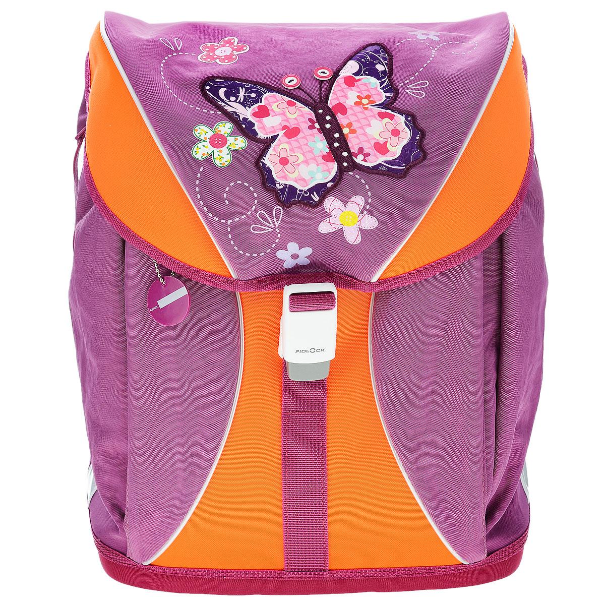"""Ранец школьный Tiger Family """"Voguish Collection"""", цвет: фиолетовый, оранжевый, Tiger Enterprise"""
