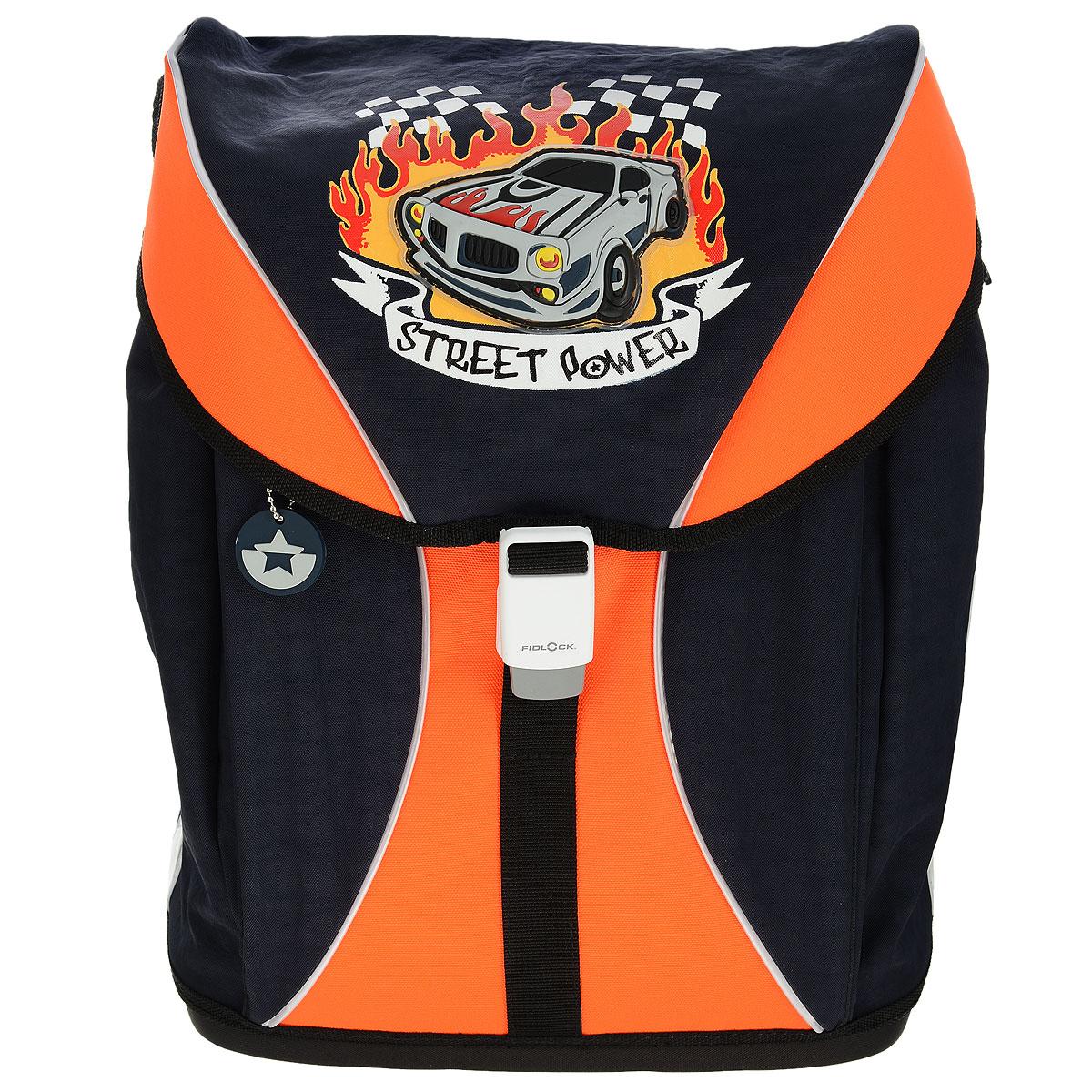 """Ранец школьный Tiger Family """"Voguish Collection"""", цвет: черный, оранжевый, Tiger Enterprise"""