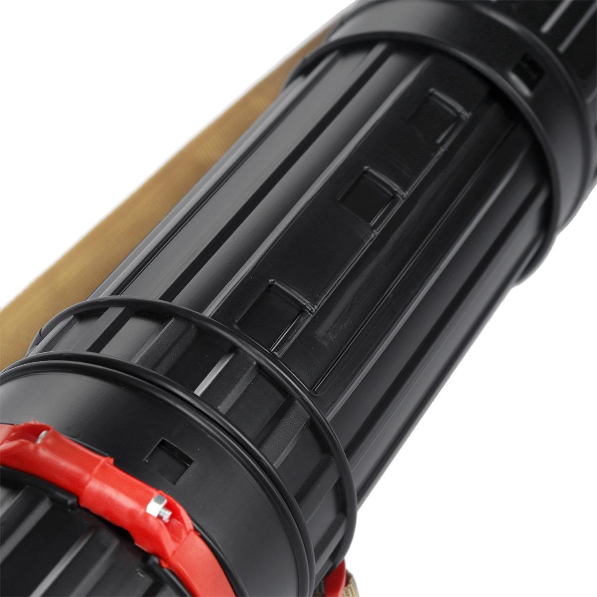 Тубус телескопический, пластмассовый, D= 9 cм, L=70-110 см, черный, на ремне, арт.  ПТ11