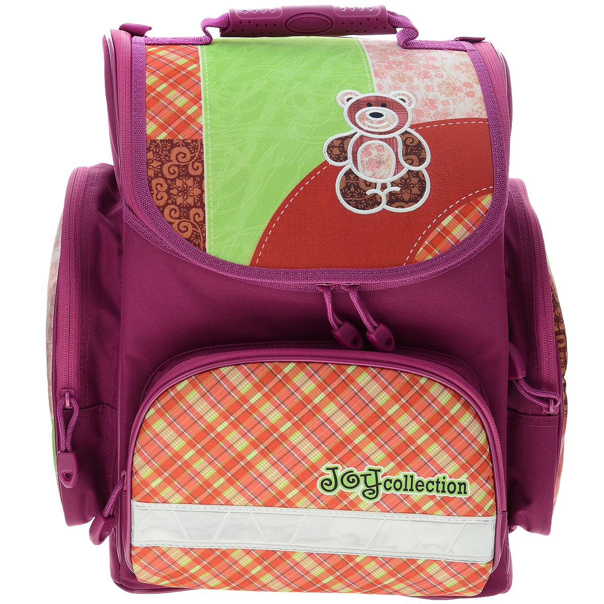 """Ранец школьный Tiger Family """"Joy Collection"""", цвет: сиреневый, оранжевый, Tiger Enterprise"""
