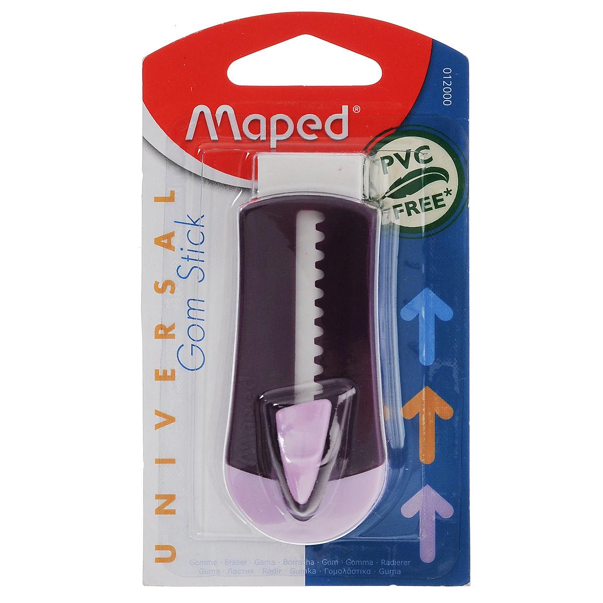 Ластик технический Maped  Universal Gom Stick , в футляре, цвет: фиолетовый -  Чертежные принадлежности