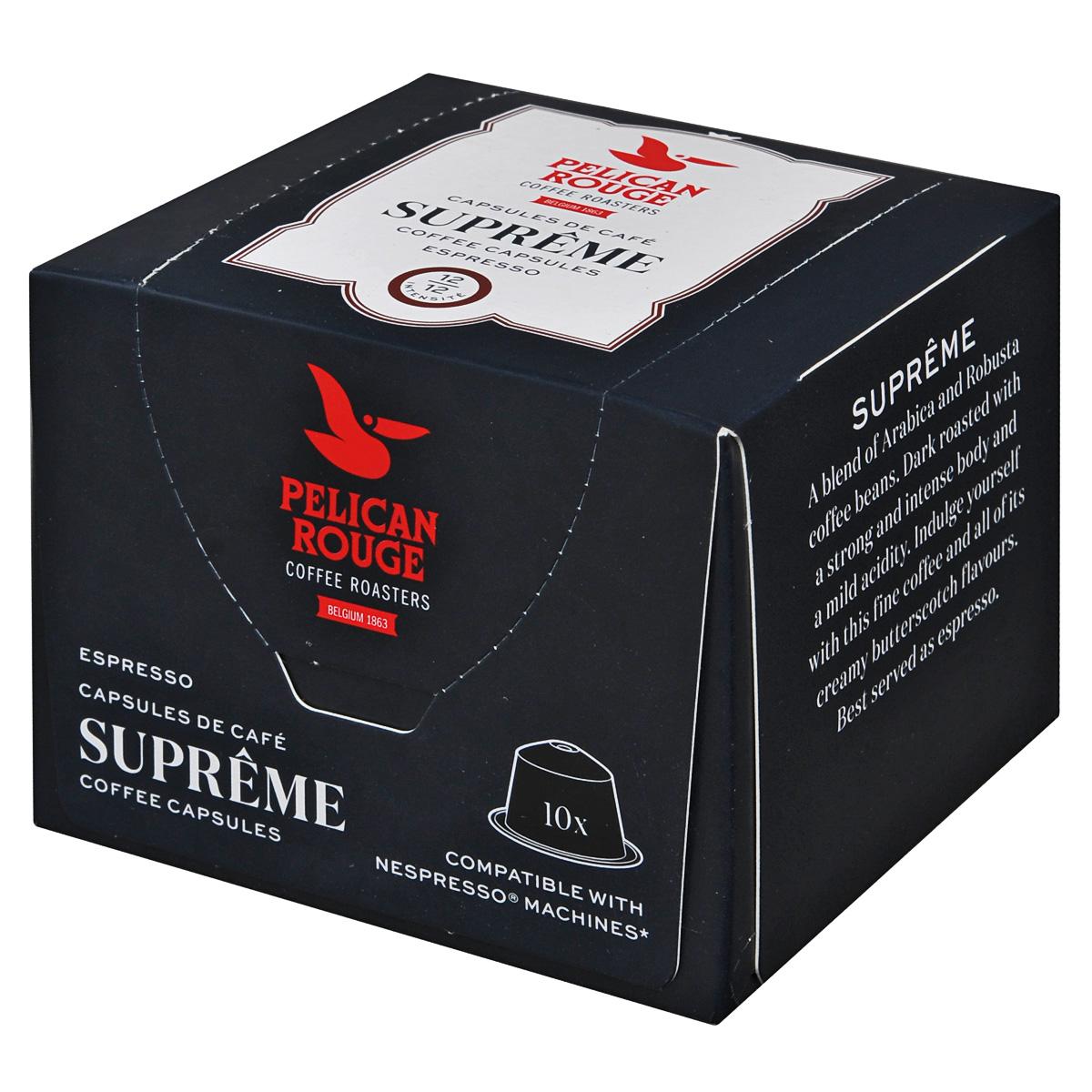 Pelican Rouge Supreme кофе в капсулах, 10 шт professo gurme кофе в капсулах 8 шт