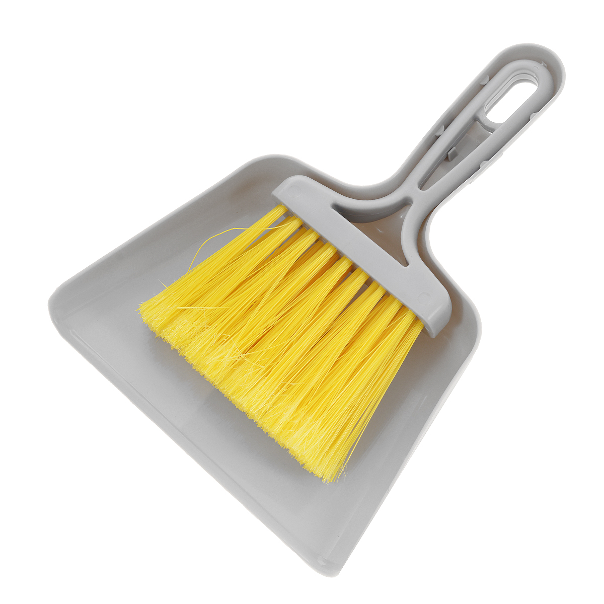 Совок Mini с щеткой, цвет: серый11701-A серыйНабор Fratelli Mini включает щетку с синтетическим ворсом и совок, изготовленный из высококачественного пластика. Набор идеально подходит для уборки мелкого мусора с кухонных поверхностей. Для дополнительного удобства совок и щетка снабжены специальной петелькой, с помощью которой, вложив щетку в совок, их можно разместить в любом месте.Размер совка с ручкой: 24 см х 18 см х 3,5 см.Размер щетки: 20 см х 11,5 см х 2,5 см.