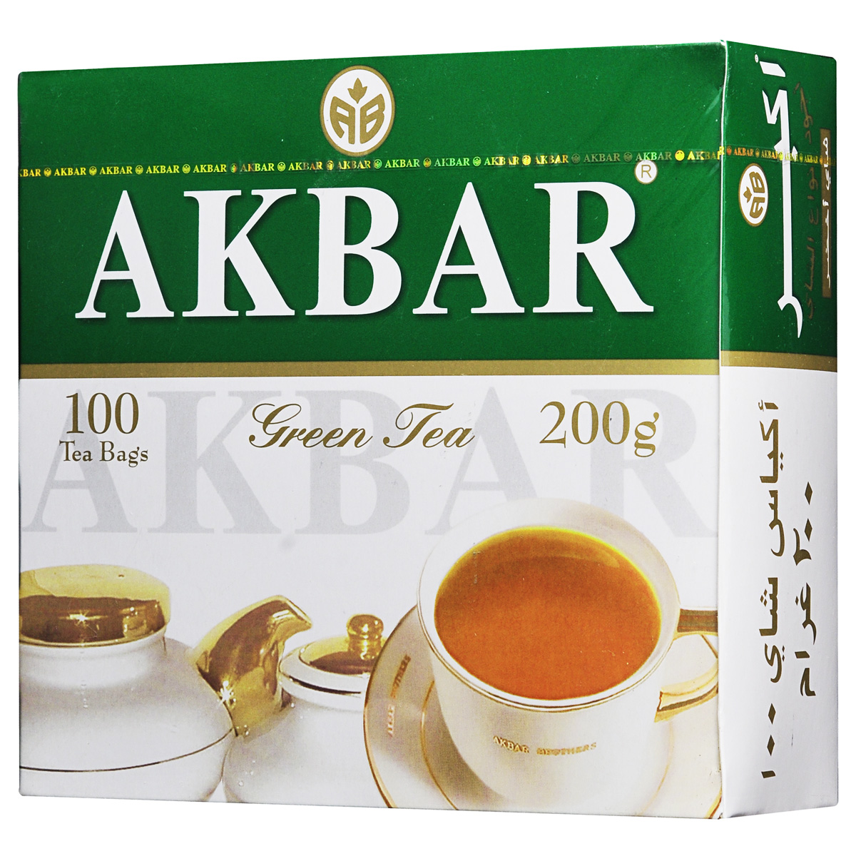 Akbar Green зеленый чай в пакетиках, 100 шт1041229У сторонников здорового образа жизни, столь популярного в мире в наши дни, широкую известность приобрели зеленые чаи Akbar Green, которые не только отличаются своим оригинальным вкусом и ароматом, но и оказывают на человека благотворное стимулирующее влияние, придают ему силу, энергию и бодрость духа.Известно, что чай содержит множество витаминов и полезных веществ, способствующих укреплению здоровья и процессу омолаживания организма человека. Поэтому компания «Akbar Brothers» максимально использует его природные оздоровительные свойства в своей продукции.