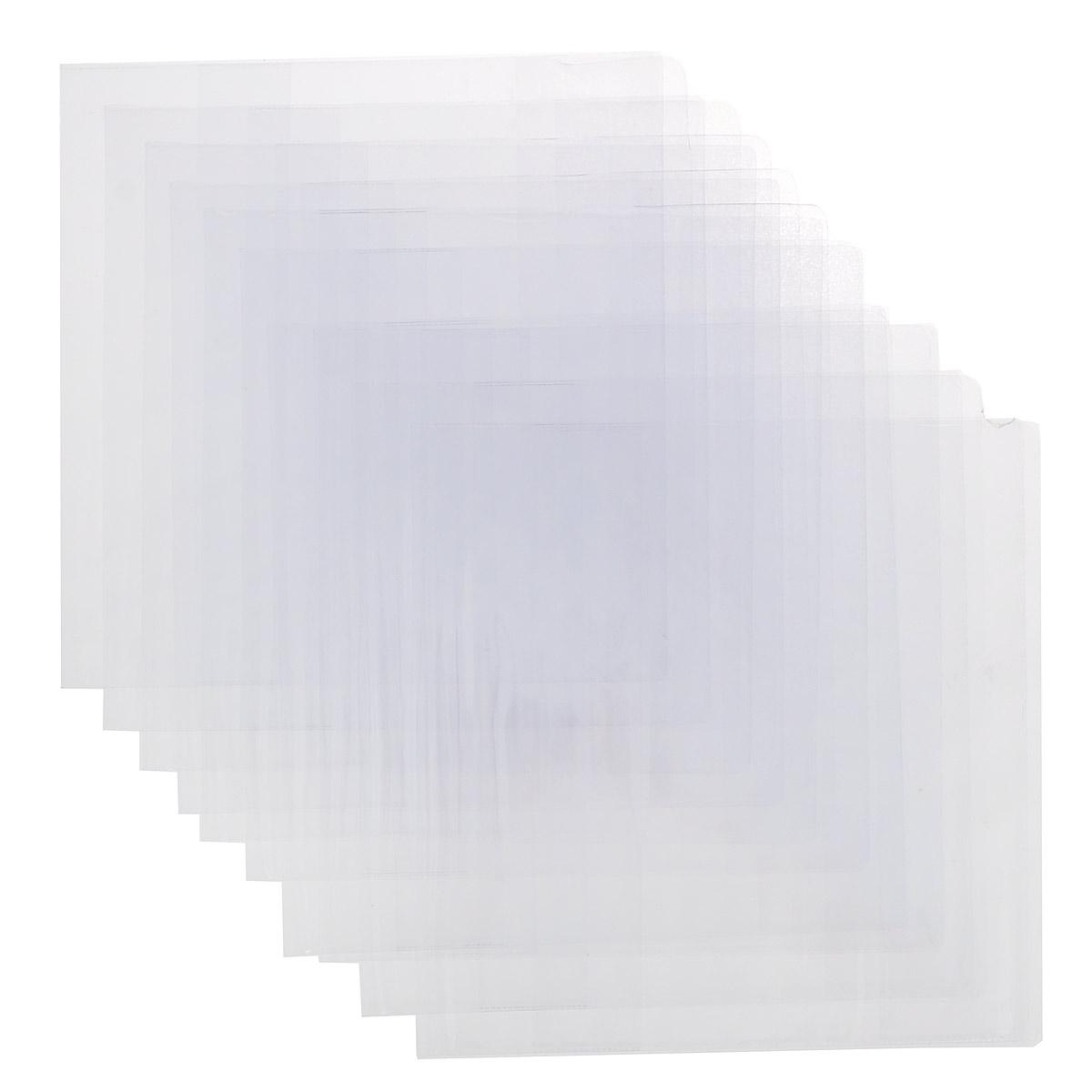 Набор обложек для учебников Брупак, цвет: прозрачный, 23 см х 46,5 см, 10 шт