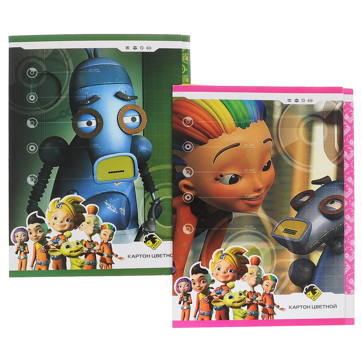 """Набор цветного мелованного картона Action """"Алиса"""", 8 цветов, 16 листов, Action!"""