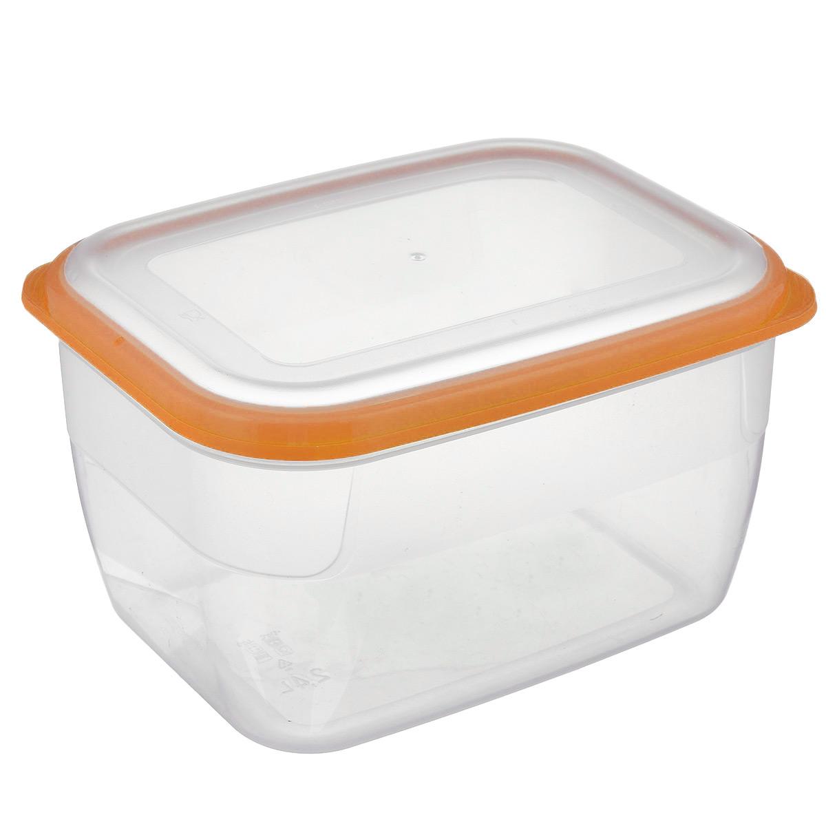 Контейнер Полимербыт Премиум, цвет: прозрачный, оранжевый, 2,4 лС563 оранжевыйКонтейнер Полимербыт Премиум прямоугольной формы, изготовленный из прочного пластика, предназначен специально для хранения пищевых продуктов. Крышка легко открывается и плотно закрывается.Контейнер устойчив к воздействию масел и жиров, легко моется. Прозрачные стенки позволяют видеть содержимое. Контейнер имеет возможность хранения продуктов глубокой заморозки, обладает высокой прочностью. Можно мыть в посудомоечной машине. Подходит для использования в микроволновых печах.