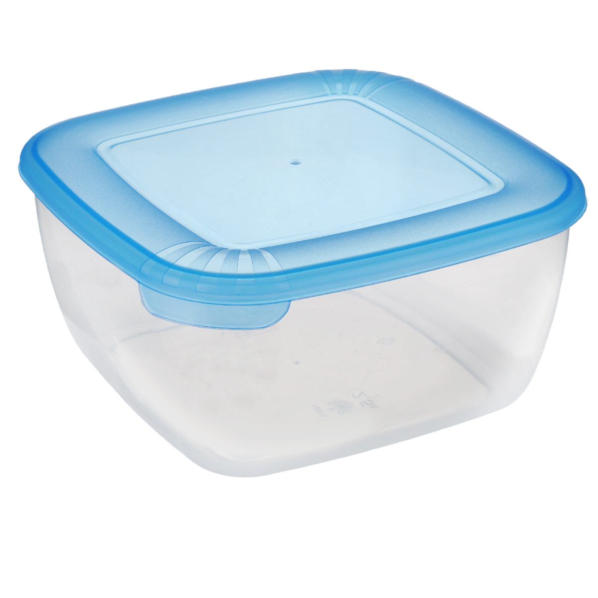 Контейнер Полимербыт Лайт, цвет: синий, прозрачный, 2,5 лС544 синийКонтейнер Полимербыт Лайт квадратной формы, изготовленный из прочного пластика, предназначен специально для хранения пищевых продуктов. Крышка легко открывается и плотно закрывается.Контейнер устойчив к воздействию масел и жиров, легко моется. Прозрачные стенки позволяют видеть содержимое. Контейнер имеет возможность хранения продуктов глубокой заморозки, обладает высокой прочностью. Подходит для использования в микроволновых печах. Можно мыть в посудомоечной машине.