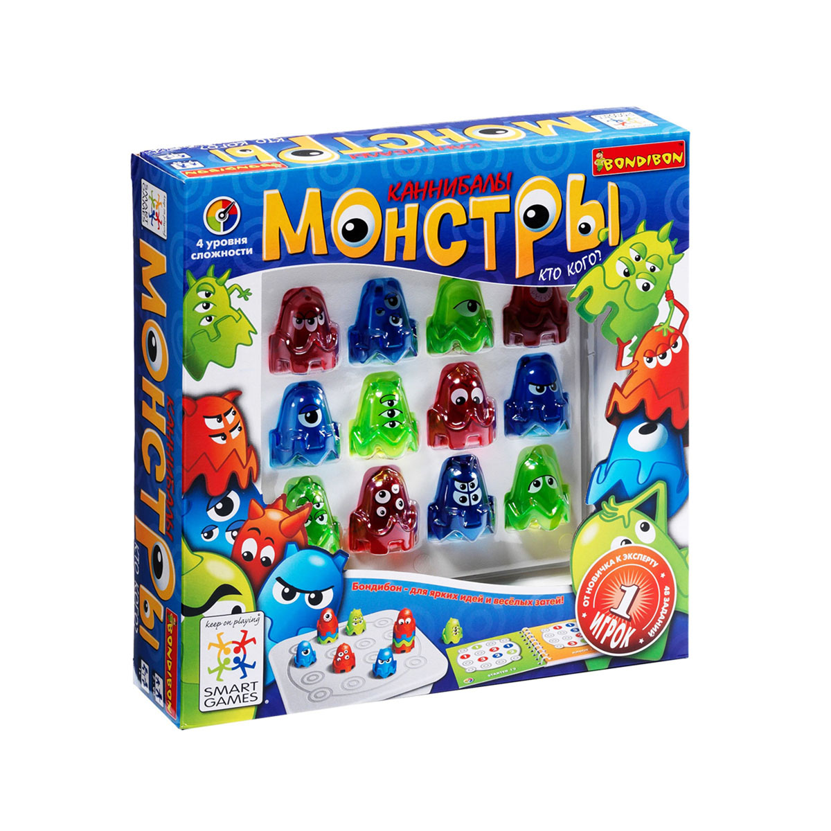 Bondibon Обучающая игра Монстры  - купить со скидкой