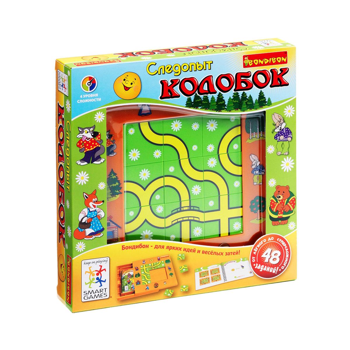 Bondibon Обучающая игра Следопыт Колобок bondibon логические игры bondibon следопыт колобок