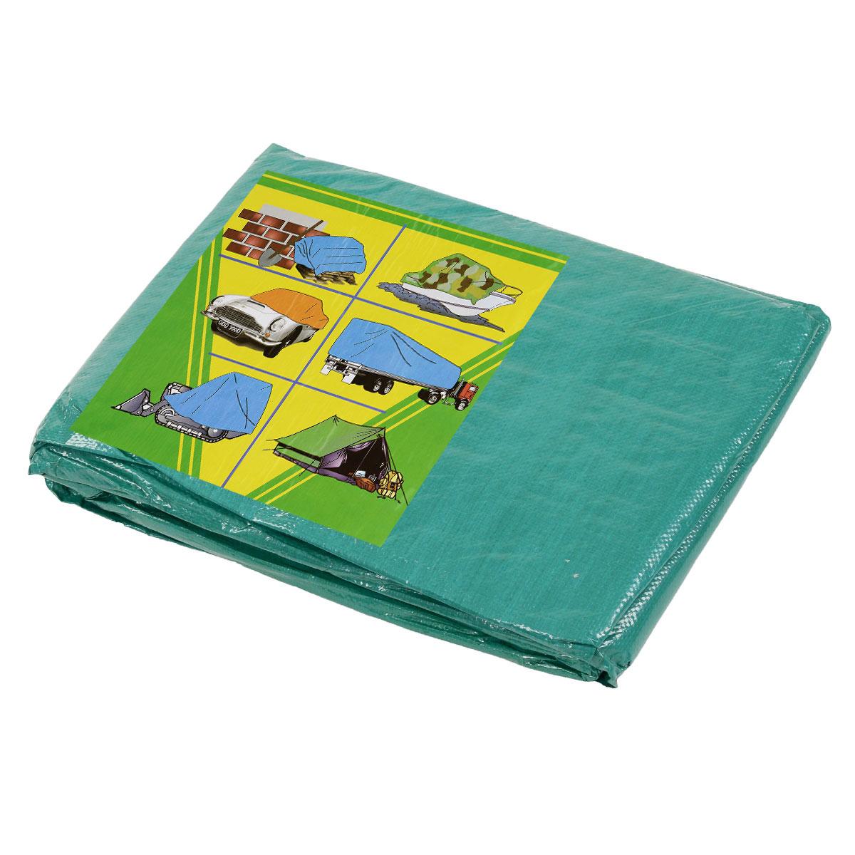 Тент терпаулинг Indiana, цвет: зеленый, 3 м х 5 м чехол для декоративной подушки flutter p502 8351 2 43х43 см