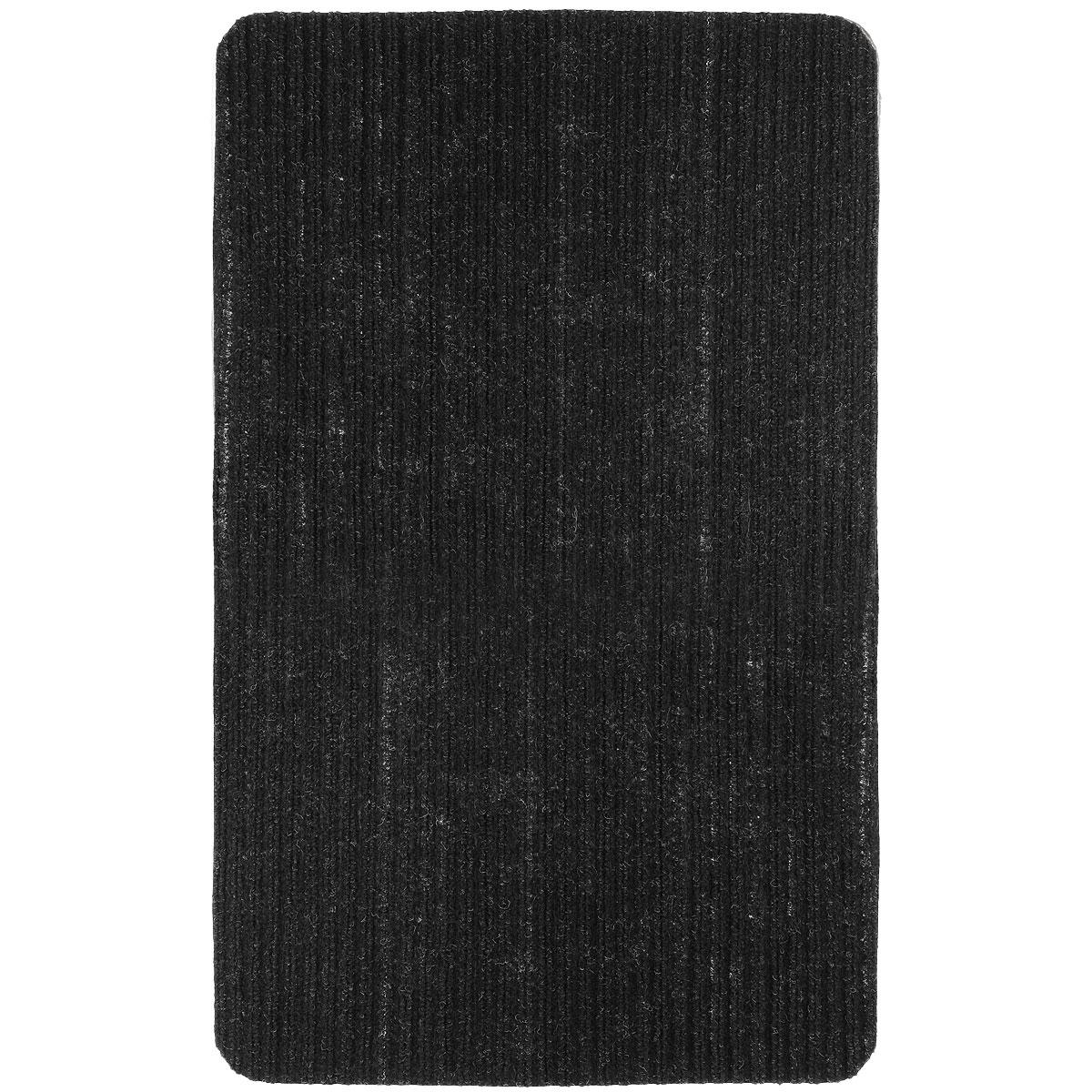 Коврик придверный Vortex Simple, цвет: черный, 50 см х 80 см коврик придверный 40х60 см черный тебе назначено vortex 20048