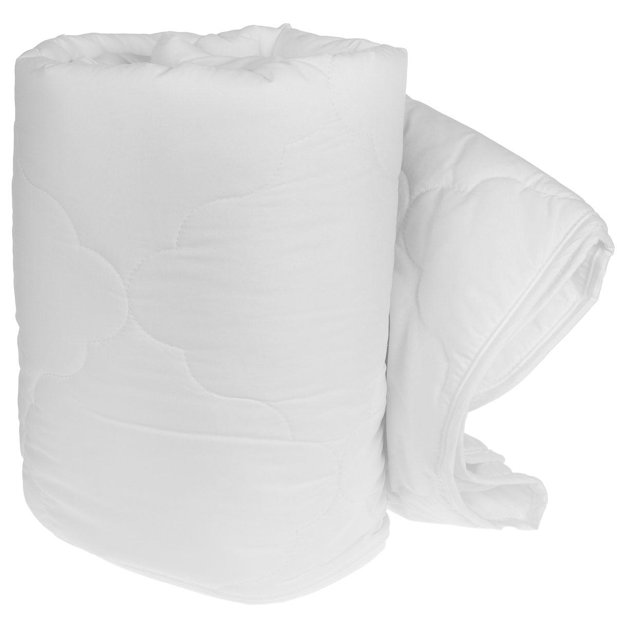 """Одеяло легкое """"Green Line"""", наполнитель: бамбуковое волокно, цвет: белый, 140 см х 205 см"""