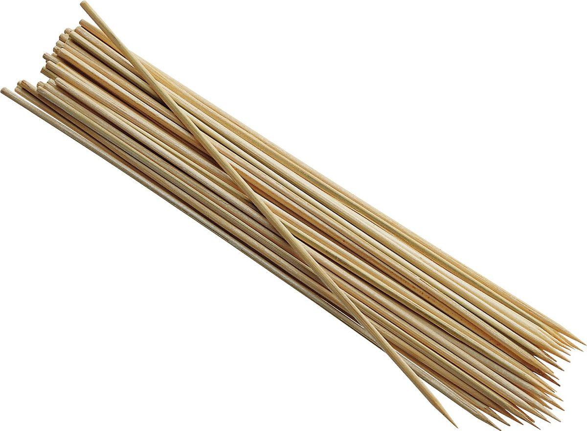 """Шпажки для шашлыка """"Iris"""", выполненные из бамбука, всегда будут желанными гостями на вашей вечеринке. Сегодня ни один приличный фуршет не обходится без канапе и шашлыка.  Добавьте веселья вашему празднику!  Длина шпажек: 25 см. Комплектация: 75 шт."""