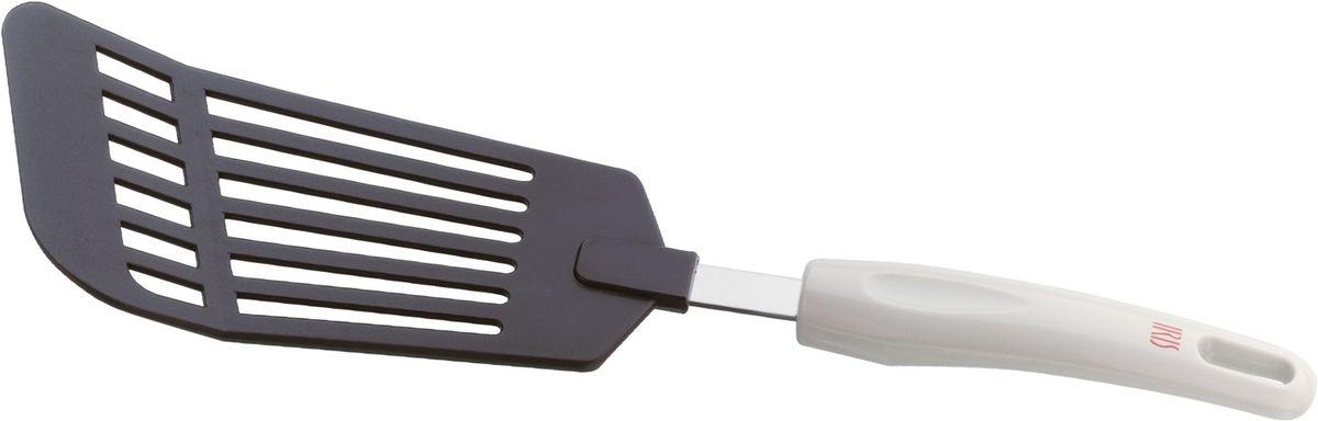 Лопаточка кулинарная Iris Premium4547-NЭта стильная лопаточка сделана из нейлона, что придает ей удивительную легкость и гибкость. Кроме того, она не оставляет царапин, безопасно использовать на антипригарном покрытии.