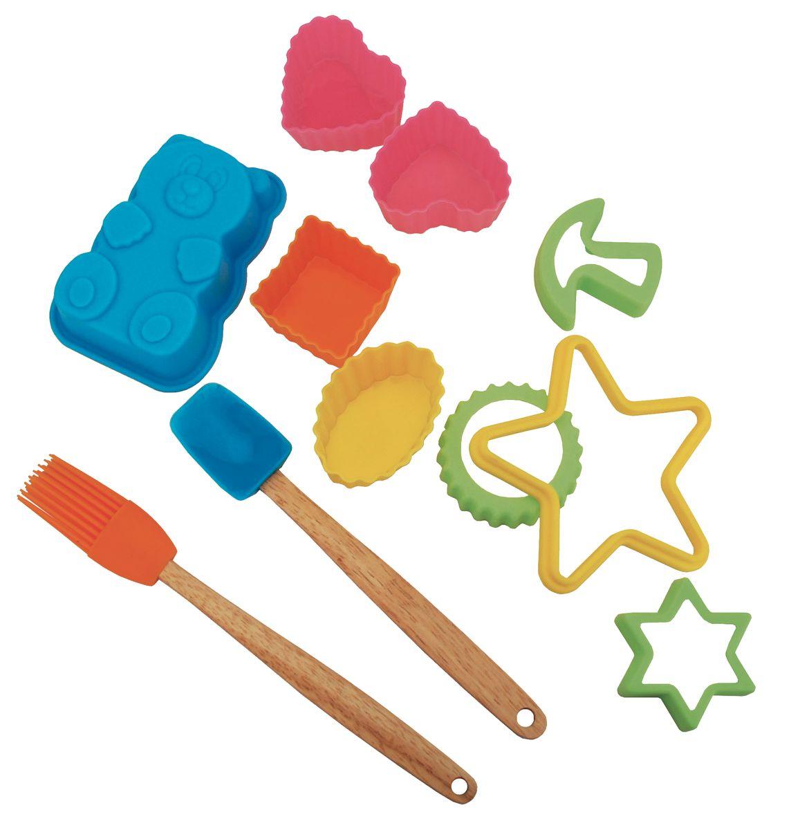 IRIS Детский набор для выпечки, 11 предм. (пластик, дерево)2378-SIRIS Детский набор для выпечки, 11 предм. (пластик, дерево)