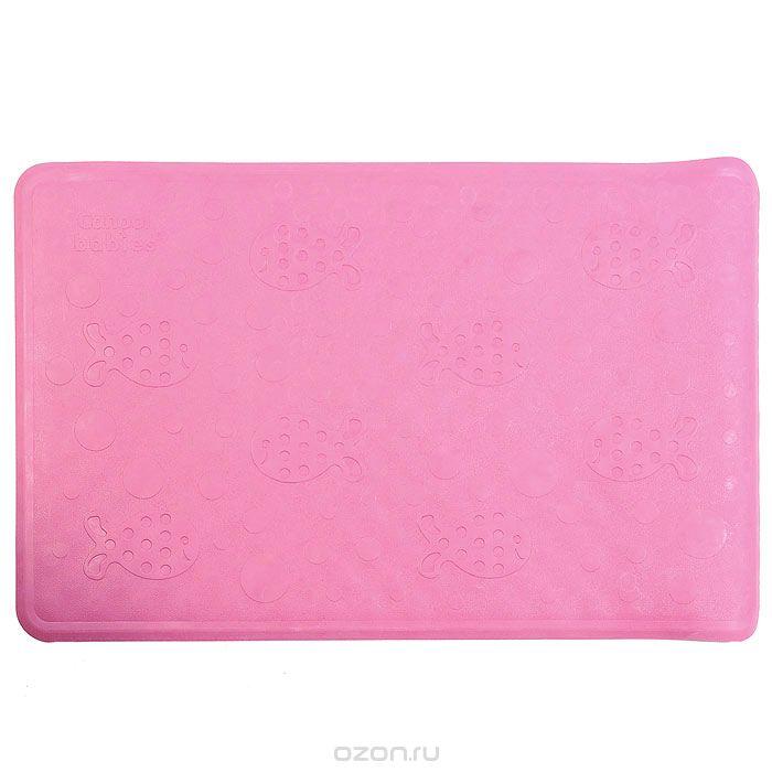 Canpol Babies Нескользящий коврик для ванны цвет розовый 34 см х 55 см canpol babies коврик развивающий цветной океан