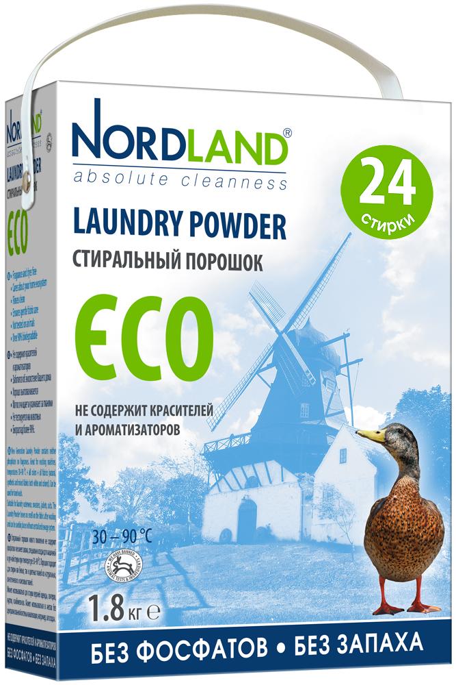 Стиральный порошок Nordland  Eco  для белых и цветных тканей, 1,8 кг -  Бытовая химия