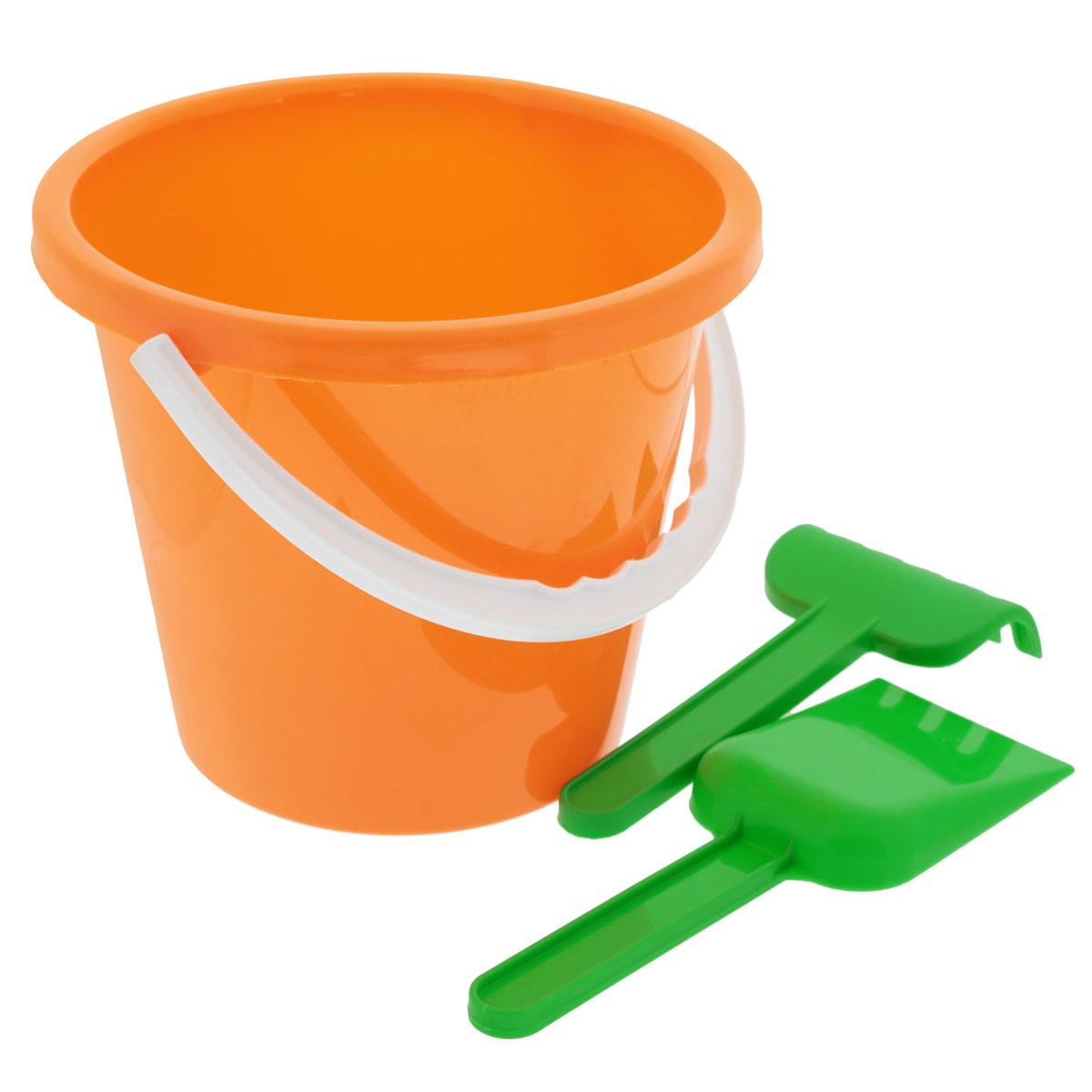 Набор для игры с песком Альтернатива, цвет: оранжевый, 3 шт детский набор для моделирования stirling engine stirling gz001