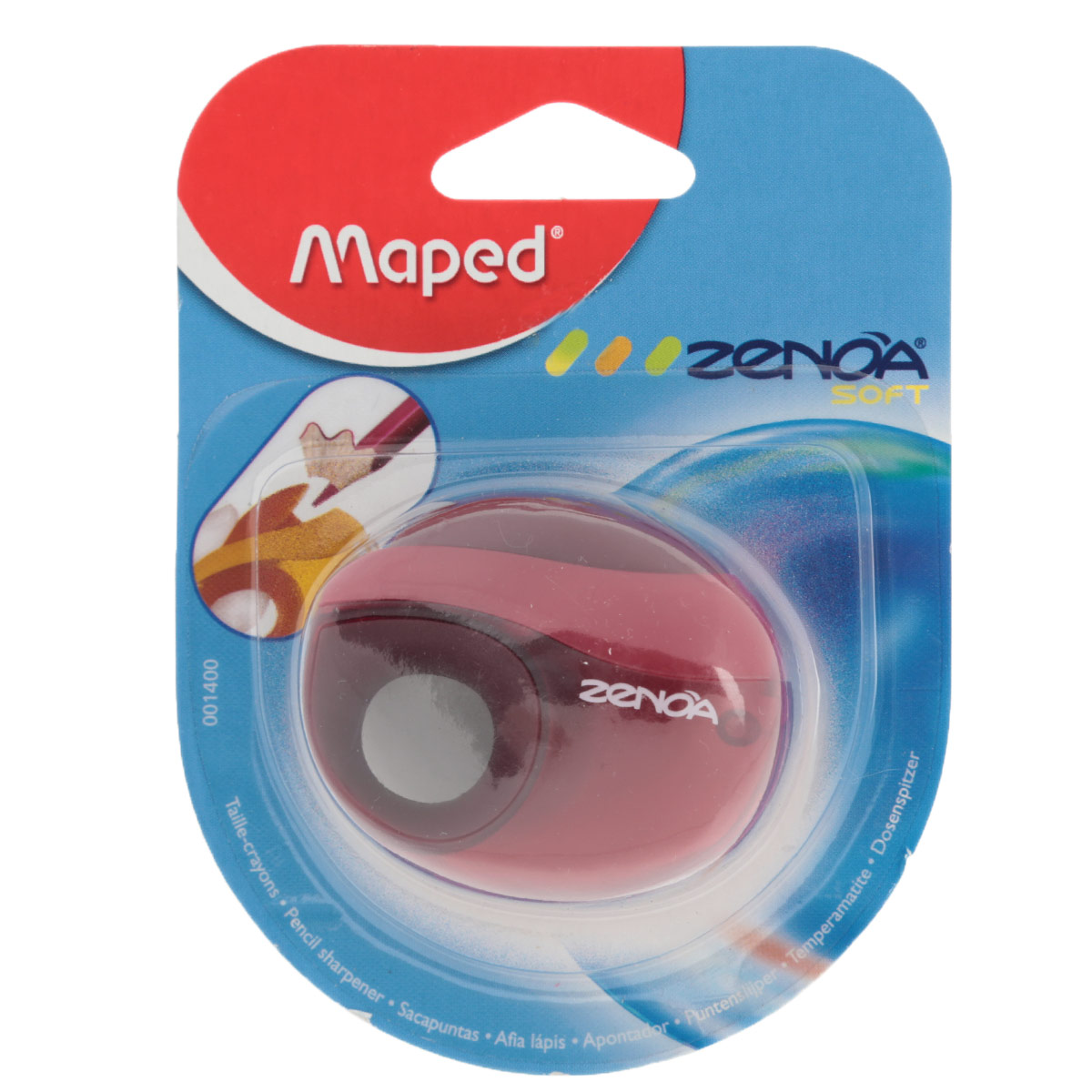 Точилка Maped Zenoa, с контейнером, цвет: красный1400_красныйТочилка Zenoa выполнена из ударопрочного пластика. Имеется мягкий держатель для пальцев. Закрывается автоматически после использования, чтобы избежать попадания крошек графита в пенал. Полупрозрачный контейнер для сбора стружки позволяет визуально контролировать уровень заполнения и вовремя производить очистку.
