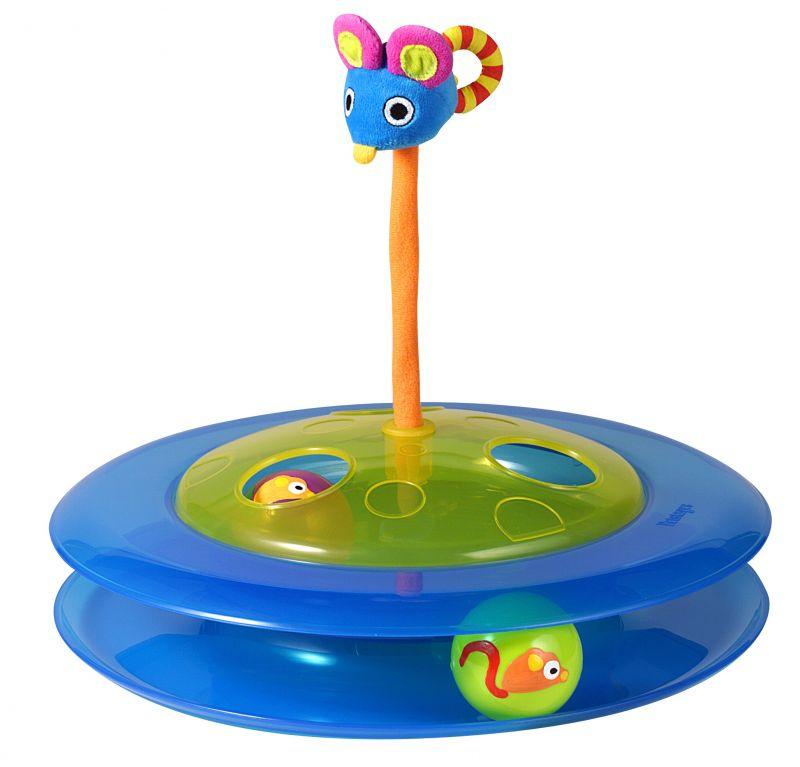 Игрушка для кошек Petstages Трек с двумя мячиками367YEXИгрушка для кошек Petstages Трек с двумя мячиками представляет собой два полупрозрачных пластиковых шарика и плюшевую мышку, наполненную кошачьей мятой.Два шарика, катаясь, предлагают вашей кошке поиграть, а плюшевая мышка сверху игрушки предназначена для поддержания интереса к игре. Высота мышки: 17 см.Диаметр игрушки: 31 см.Высота игрушки: 7,5 см.Диаметр мячика: 4 см.Товар сертифицирован.