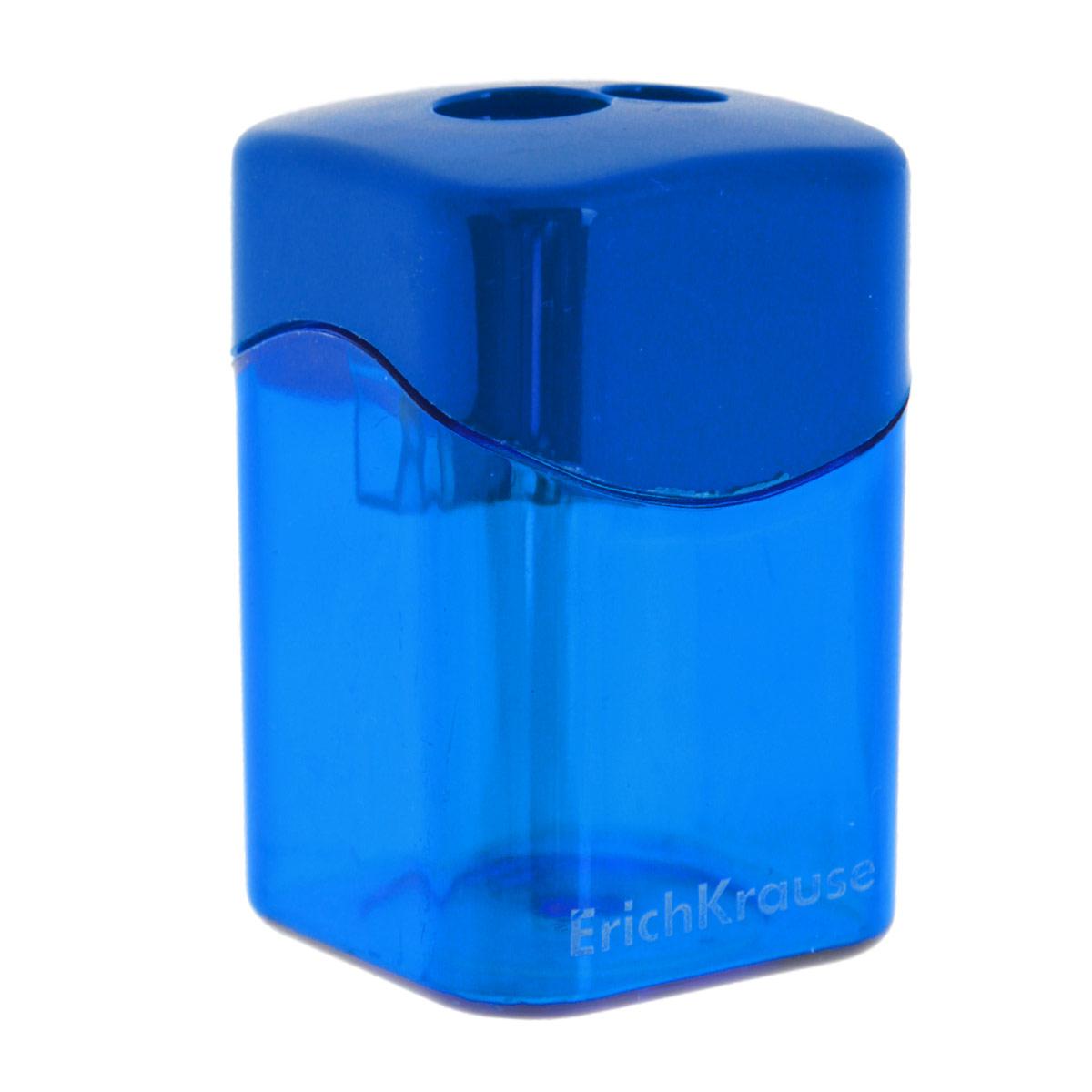 Точилка Erich Krause, с 2 отверстиями, цвет: синий21835_синийТочилка Erich Krause с двумя отверстиями для заточки стандартных и утолщенных карандашей, выполнена из ударопрочного пластика с лезвием из высококачественной стали. Полупрозрачный контейнер для сбора стружки повышенной вместимости позволяет визуально контролировать уровень заполнения и вовремя производить очистку.