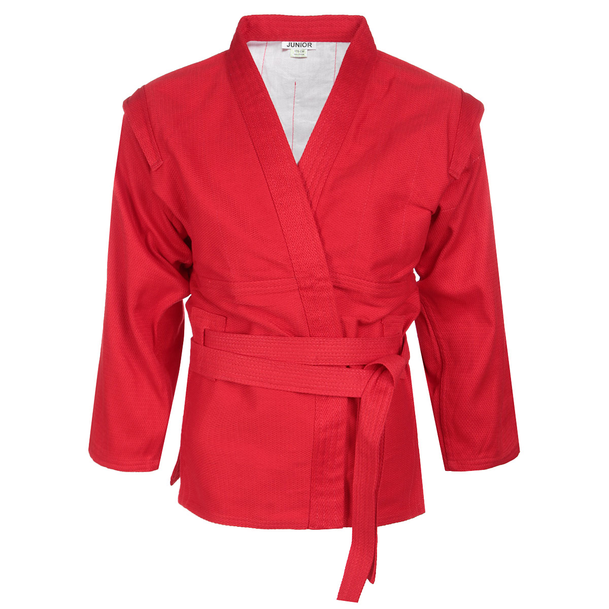 Куртка для самбо детская Green Hill Junior, цвет: красный. SСJ-2201. Размер 00/120 green hill кимоно дзю до junior green hill
