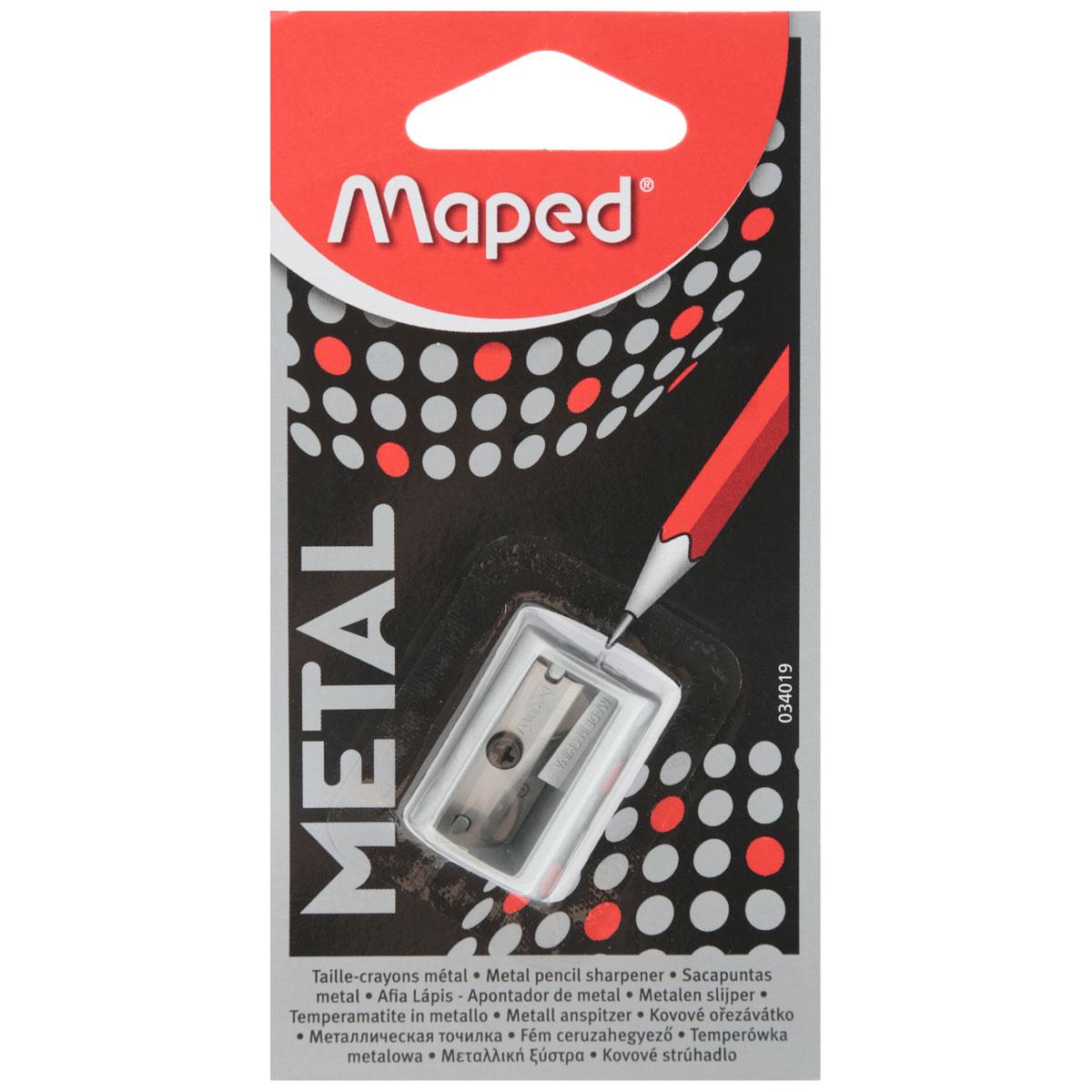 Точилка Maped Satellite, цвет: серый34019_серыйТочилка Maped Satellite выполненная из металла в современном стильном дизайне. Точилка цилиндрической формы обеспечивает лёгкое равномерное затачивание. Компактная и удобная на одно отверстие, без контейнера для сбора стружки.