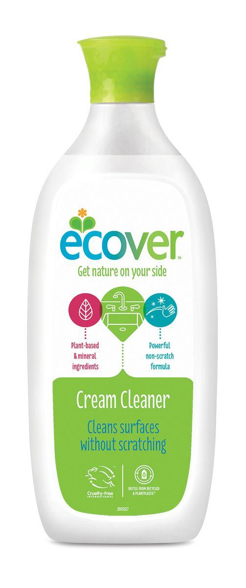 Экологическое чистящее средство Ecover, кремообразное, 500 мл00405Многофункциональный, эффективный и экологичный чистящий крем Ecover бережно, без царапин удаляет жир, накипь, пятна ржавчины, известковый налет, а также противодействует неприятным запахам. Рекомендован для чистки ванн, раковин, керамических плит, холодильников, подгоревших кастрюль, сковород, противней, шампуров и т.п. Подходит для мытья детских ванночек. Отлично смывается, не оставляя после себя химикатов. Не оказывает вредного влияния на кожу, безопасно при вдыхании, не вызывает аллергических реакций. Без запаха. Не содержит соединений хлора и других агрессивных веществ, без ароматизаторов. Уровень pH: 9.5. Подходит для использования в домах с автономной канализацией. Не наносит вреда любым видам септиков! Характеристики:Состав: >30% вода, порошок мела;Объем: 500 мл. Товар сертифицирован.Как выбрать качественную бытовую химию, безопасную для природы и людей. Статья OZON Гид