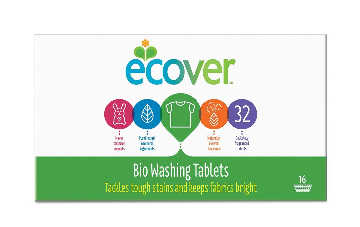 Экологические таблетки для стирки Ecover, 32 шт00192Высокоэффективное универсальное средство Ecover для стирки белого и нелиняющего цветного белья. Создано на основе растительных ПАВ. Прекрасно отстирывает при низкой температуре и очень хорошо выполаскивается. Содержит небольшое количество бережного кислородного отбеливателя для удаления таких загрязнений как пятна от вина, фруктов, травы и т.д. При машинной стирке не требуется добавление средств для смягчения воды и предотвращения образования накипи (типа Calgon). Каждая таблетка имеет индивидуальную упаковку. Обладает натуральным свежим лимонным ароматом. Не содержит фосфатов и синтетических ароматизаторов. Содержит энзимы (не ГМО) и натуральный кислородный отбеливатель. Уровень pH: 10.5. Подходит для использования в домах с автономной канализацией. Не наносит вреда любым видам септиков! Характеристики:Состав: 15-30% кислородный отбеливатель, цеолиты, 5-15% анионные и неионные ПАВ, целлюлоза, дисиликат, биакрбонат, Количество таблеток в упаковке: 32 шт. Вес: 960 г. Товар сертифицирован.