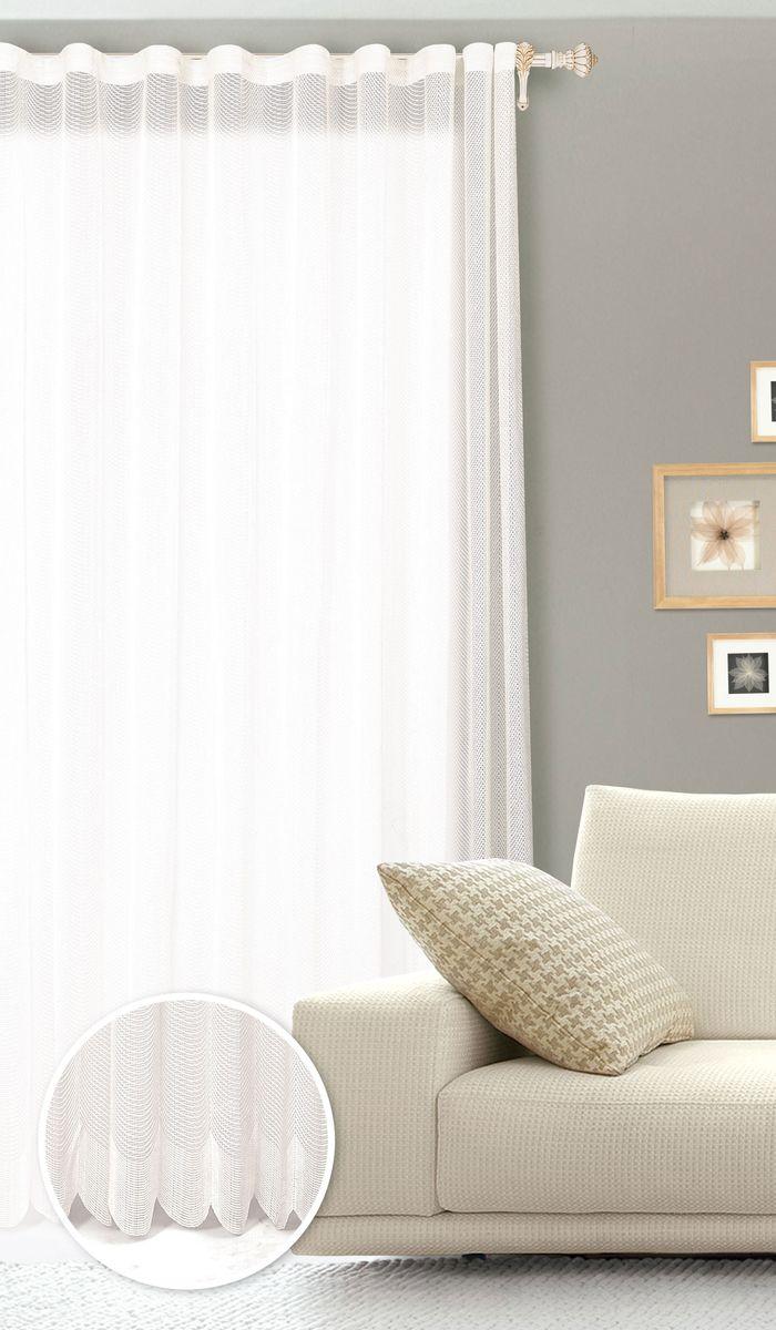Штора готовая для гостиной Garden, на ленте, цвет: белый, 200 х 260 см. С 537299 V1133С 537299 V1133Готовая штора для гостиной Garden выполнена из сетчатой ткани (100% полиэстера). Необычный дизайн и нежная цветовая гамма привлекут к себе внимание и органично впишутся в интерьер комнаты. Штора крепится на карниз при помощи ленты, которая поможет красиво и равномерно задрапировать верх. Штора Garden великолепно украсит любое окно.Стирка при температуре 30°С.