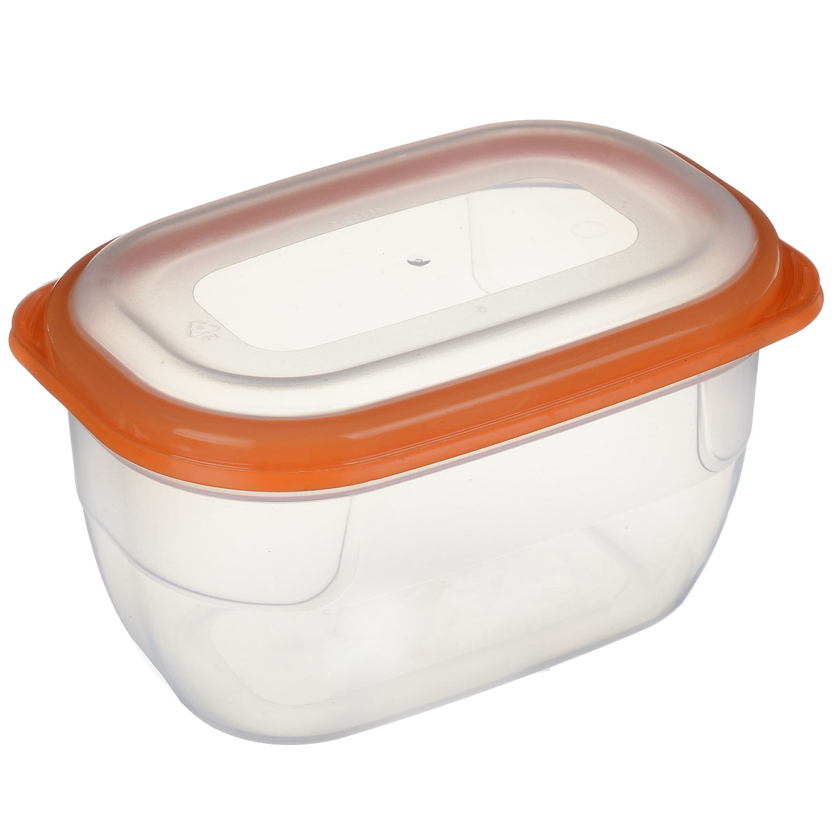 Контейнер для СВЧ Полимербыт Премиум, цвет: прозрачный, оранжевый, 750 млС561 оранжевыйКонтейнер Полимербыт Премиум прямоугольной формы, изготовленный из прочного пластика, предназначен специально для хранения пищевых продуктов. Крышка легко открывается и плотно закрывается.Контейнер устойчив к воздействию масел и жиров, легко моется. Прозрачные стенки позволяют видеть содержимое. Контейнер имеет возможность хранения продуктов глубокой заморозки, обладает высокой прочностью. Можно мыть в посудомоечной машине.Контейнер подходит для использования в микроволновой печи без крышки, а также для заморозки в морозильной камере.