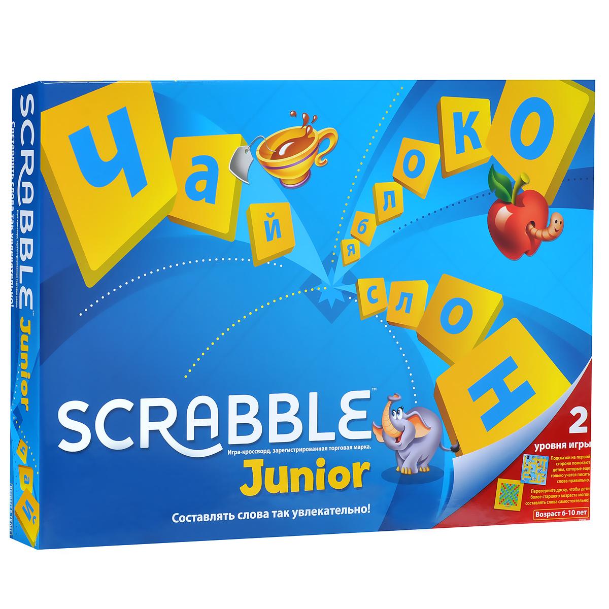 Mattel Games Обучающая игра Scrabble Джуниор mattel games фигурка персонажей minecraft
