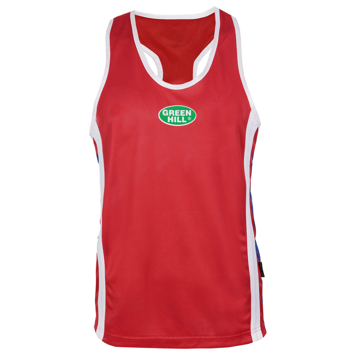 Майка унисекс боксерская Green Hill Olympic, цвет: красный. BVO-6701. Размер XL (52)