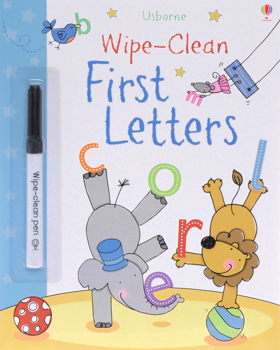 Usborne Wipe Clean: First Letters (+ фломастер)
