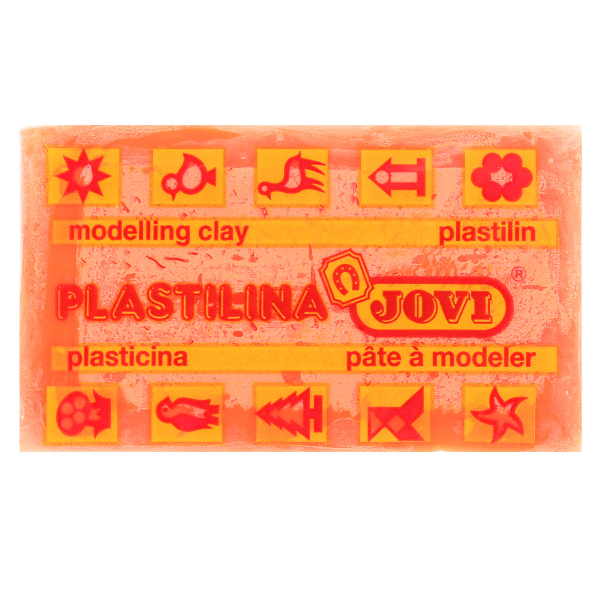 Jovi Пластилин флюоресцентный цвет оранжевый 50 г jovi набор мягкой пасты и аксессуаров для лепки огород