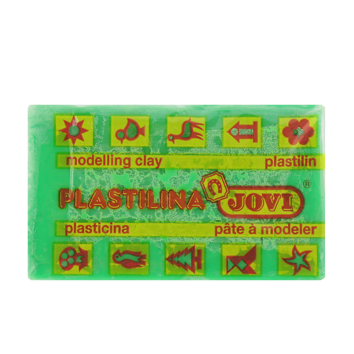 Jovi Пластилин, цвет: зеленый, 50 г70/30U_зеленыйПластилин Jovi - лучший выбор для лепки, он обладает превосходными изобразительными возможностями и поэтому дает простор воображению и самым смелым творческим замыслам. Пластилин, изготовленный на растительной основе, очень мягкий, легко разминается и смешивается, не пачкает руки и не прилипает к рабочей поверхности. Пластилин пригоден для создания аппликаций и поделок, ручной лепки, моделирования на каркасе, пластилиновой живописи - рисовании пластилином по бумаге, картону, дереву или текстилю. Пластические свойства сохраняются в течение 5 лет.
