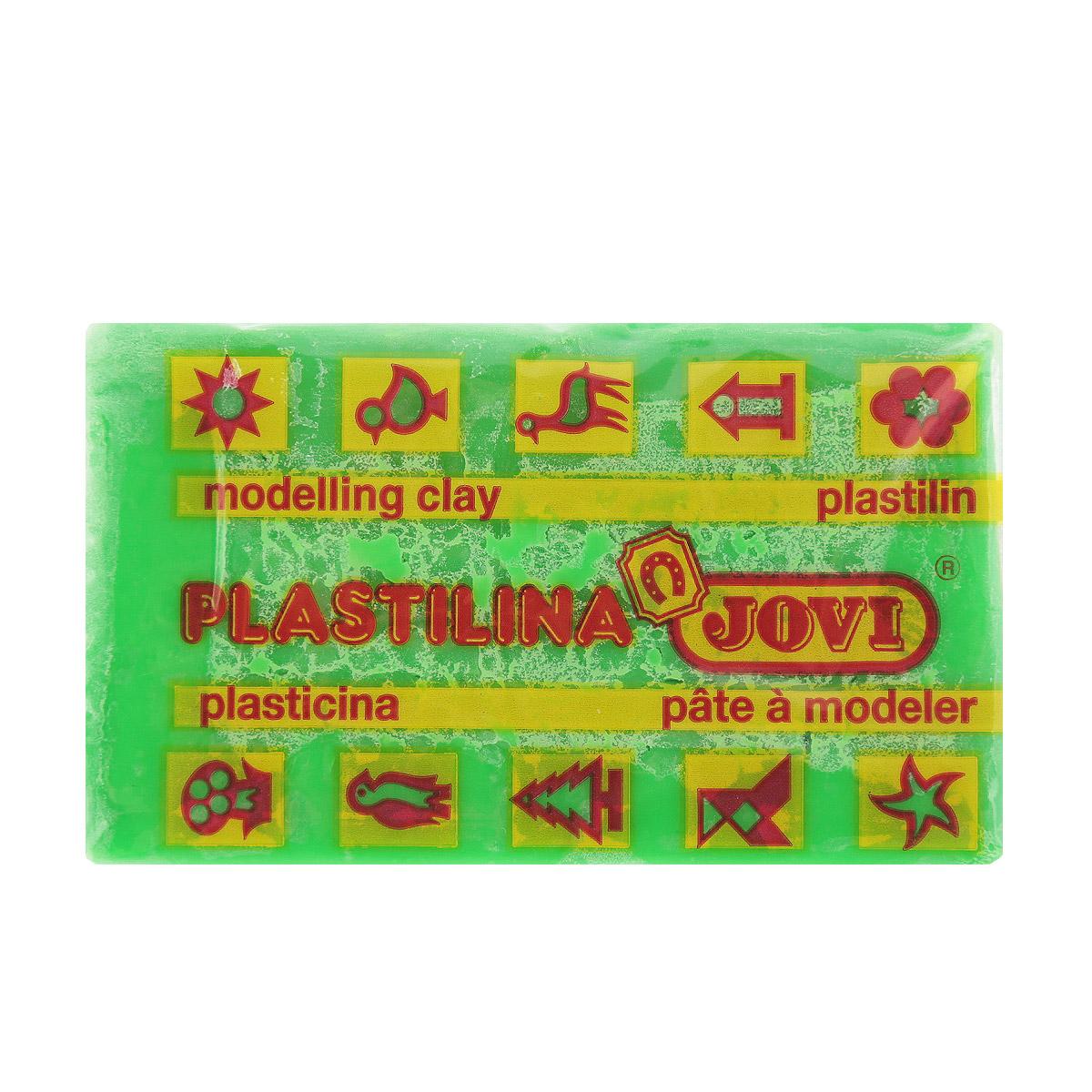 Jovi Пластилин флюоресцентный цвет салатовый 50 г jovi набор мягкой пасты и аксессуаров для лепки огород