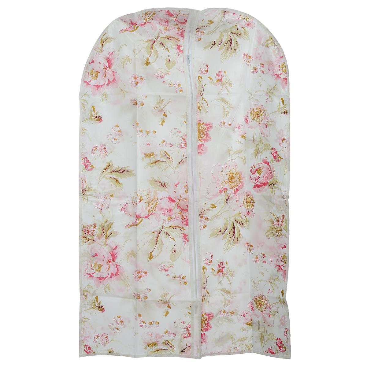 Чехол для одежды Eva Цветы, 60 х 92 см чехол для одежды eva с прозрачной вставкой цвет черный белый 60 х 150 см
