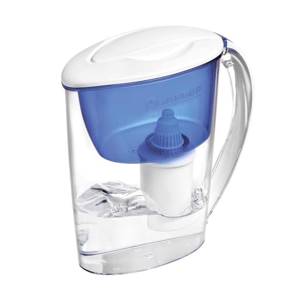 """Фильтр-кувшин """"Барьер Экстра"""" предназначен для доочистки питьевой водопроводной воды. Эффективно очищает воду от активного хлора, органических и хлороорганических соединений, токсичных металлов и других вредных веществ. Устраняет неприятные запахи и привкусы.  Фильтр укомплектован сменной фильтрующей кассетой """"БАРЬЕР Классик"""". В состав кассеты входят особая комбинация высококачественных активированных углей для сорбции вредных примесей и специальные ионообменные материалы для удаления из воды ионов токсичных металлов. Особенности данного фильтра: - календарный индикатор ресурса кассеты;  - высококачественный пластик, допущенный для контакта с питьевой водой; - возможность мыть в посудомоечной машине;  - уникальная технология NanoPlus®. К фильтру-кувшину """"Extra"""" подходят 4 вида сменных кассет для воды с разными типами загрязнения:  - Б-4 для водопроводной воды.  - Б-5 с фторирующим эффектом.  - Б-6 для жесткой воды.  - Б-7 для защиты от железа.  Фильтр """"Extra"""" - это оптимальное решение для вашей семьи. Для него найдется место даже на самой миниатюрной кухне, а благодаря компактным размерам он поместится даже в дверцу холодильника.   """"Барьер"""" - это высококачественные материалы и жесточайший контроль на каждой стадии производства. На сегодняшний день компания """"Барьер"""" располагает производством полного цикла и собственной научно-исследовательской лабораторией. Конструкторский отдел компании сотрудничает с ведущими дизайн-бюро Европы, что позволяет обновлять модельный ряд фильтров-кувшинов раз в 2-3 года.  В комплект входит инструкция по эксплуатации на русском языке. Хранить при температуре от -25°С до +40°С.    Материал: пластик.   Объем воронки: 1 л. Объем кувшина: 2,5 л. Объем очищенной воды: 1,1 л.  Средний ресурс сменной кассеты (в зависимости от качества исходной воды): 200 л.   Входит инструкция по эксплуатации на русском языке."""