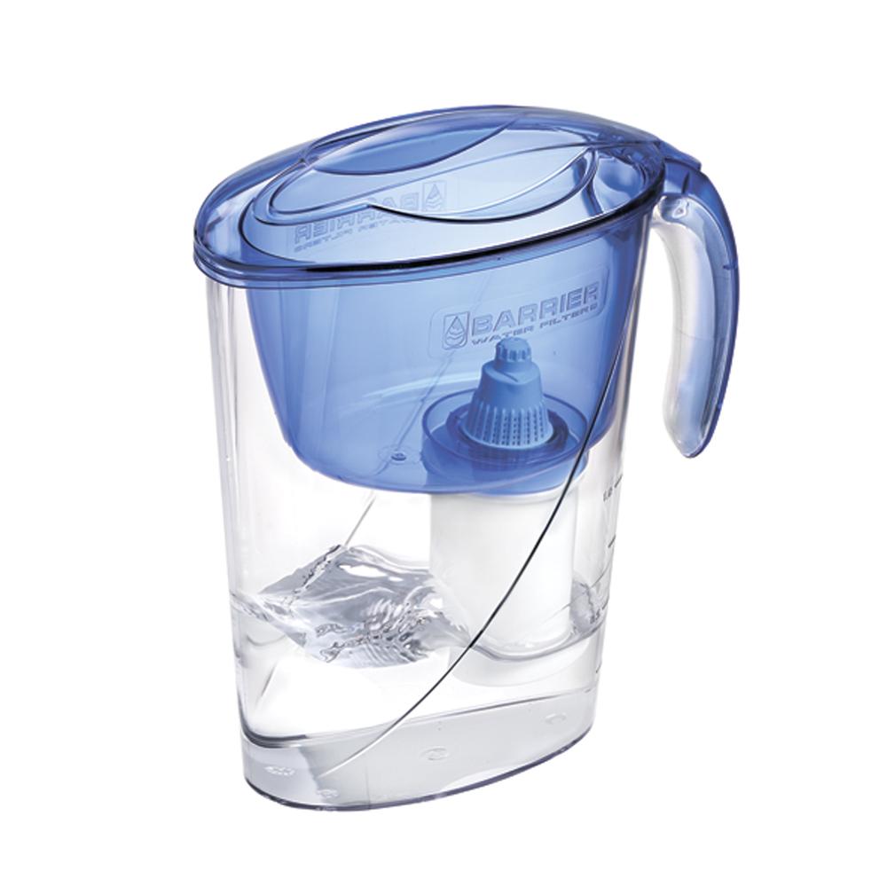 Фильтр-кувшин для воды Барьер Эко, цвет: аквамаринФильтр-кувшин Барьер Эко цвет: аквамаринФильтр Eco - одна из самых популярных моделей фильтров-кувшинов. Кувшин обеспечит Вам нужное количествочистой воды за раз и при этом не будет занимать много места на кухне.Фильтр-кувшин предназначен для доочистки питьевой водопроводной воды. Эффективно очищает воду от активного хлора, органических и хлороорганических соединений, токсичных металлов и других вредных веществ. Устраняет неприятные запахи и привкусы.Фильтр укомплектован сменной фильтрующей кассетой БАРЬЕР-4. В состав кассеты входят особая комбинация высококачественных активированных углей для сорбции вредных примесей и специальные ионообменные материалы для удаления из воды ионов токсичных металлов. Особенности данного фильтра: высококачественный пластик, допущенный для контакта с питьевой водой; возможность мыть в посудомоечной машине; уникальная конструкция воронки с защитой от выпадения крышки; уникальная технология NanoPlus®;удобная консольная ручка;мерная шкала на корпусе. К фильтру-кувшину Eco подходят 4 вида сменных кассет для воды с разными типами загрязнения:Б-4 для водопроводной воды. Б-5 с фторирующим эффектом.Б-6 для жесткой воды.Б-7 для защиты от железа.Барьер - это высококачественные материалы и жесточайший контроль на каждой стадии производства. На сегодняшний день компания Барьер располагает производством полного цикла и собственной научно-исследовательской лабораторией. Конструкторский отдел компании сотрудничает с ведущими дизайн-бюро Европы, что позволяет обновлять модельный ряд фильтров-кувшинов раз в 2-3 года.Объем кувшина: 2,6 л. Объем воронки: 1,1 л.Объем очищенной воды: 1,2 л.Средний ресурс сменной кассеты (в зависимости от качества исходной воды): 350 л. Материал: пластик.Входит инструкция по эксплуатации на русском языке.