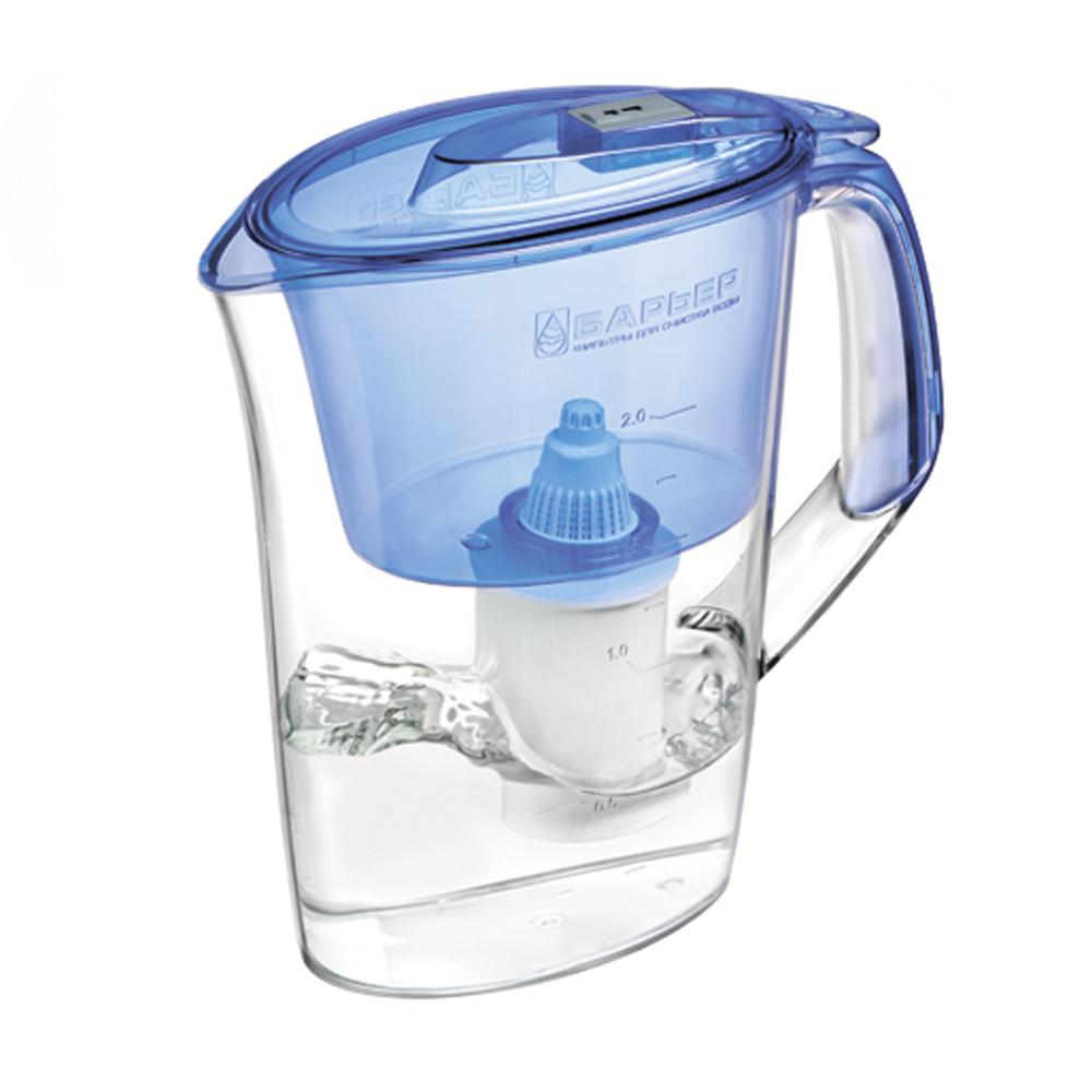 Фильтр-кувшин для воды Барьер Стайл, цвет: синий фильтр кувшин для воды аквафор стандарт цвет голубой прозрачный 2 5 л