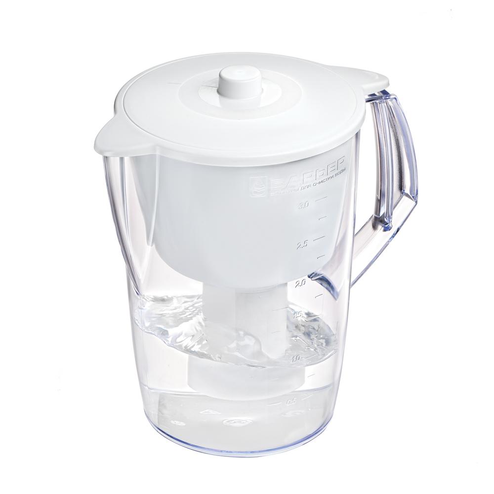 Фильтр-кувшин Барьер Лайт, цвет: белыйВ060Р00Недорогая модель фильтра-кувшина подойдет для семьи из трех человек. Отфильтрует за раз до 6 стаканов воды. Особенности фильтра: Уникальная конструкция воронки с защитой от попадания неочищенной воды и пыли Кувшин изготовлен из высококачественного пластика BASF, допущенного для контакта с питьевой водой В стандартной комплектации поставляется в продажу со сменной кассетой Барьер Классик Характеристики:Материал: пластик. Объем кувшина: 3 л. Объем воронки: 1,5 л. Цвет воронки: белый. Размер кувшина (с учетом ручки): 24 см х 17 см. Высота кувшина: 25 см. Размер упаковки: 27 см х 19 см х 19 см. Артикул: В060Р00.
