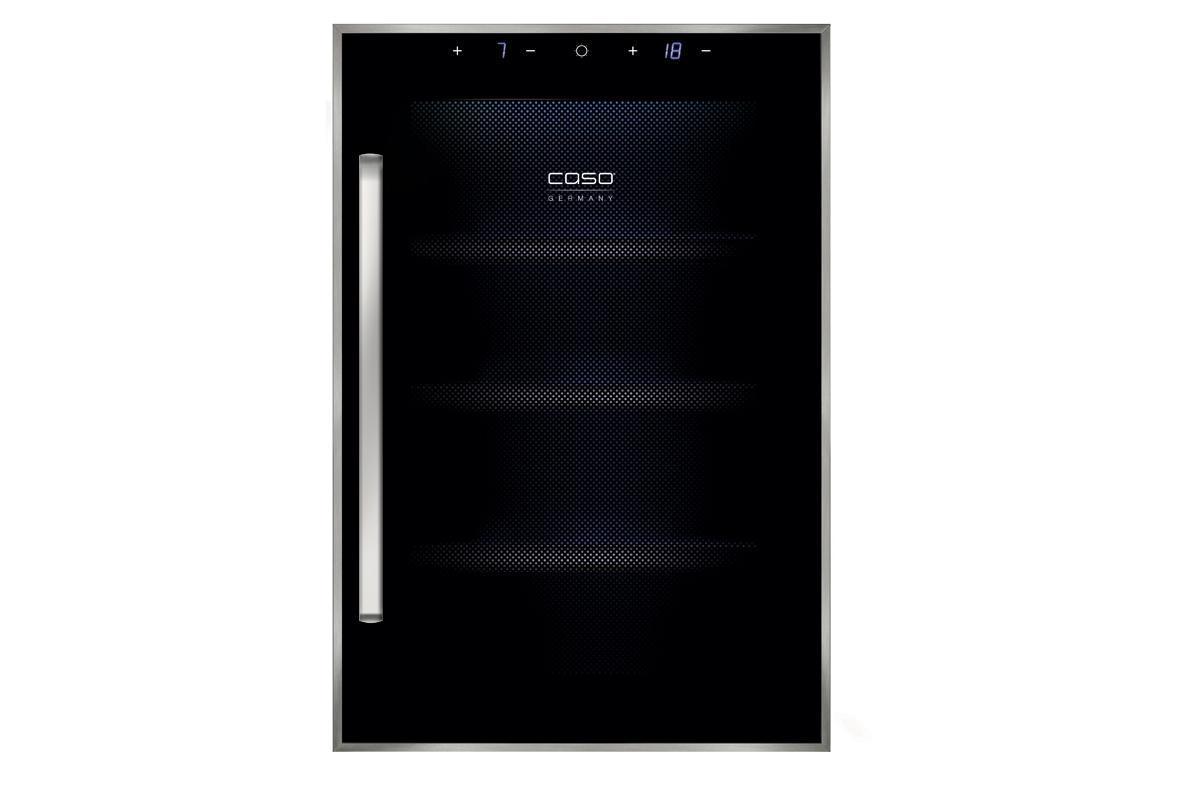 CASO WineDuett Touch 12 винный холодильникWineDuett Touch 12винный термоэлектрический холодильник на 12 бутылок с 2 раздельными зонами: верхняя зона на 6 бутылок с температурным режимом 7-18°С, нижняя зона на 6