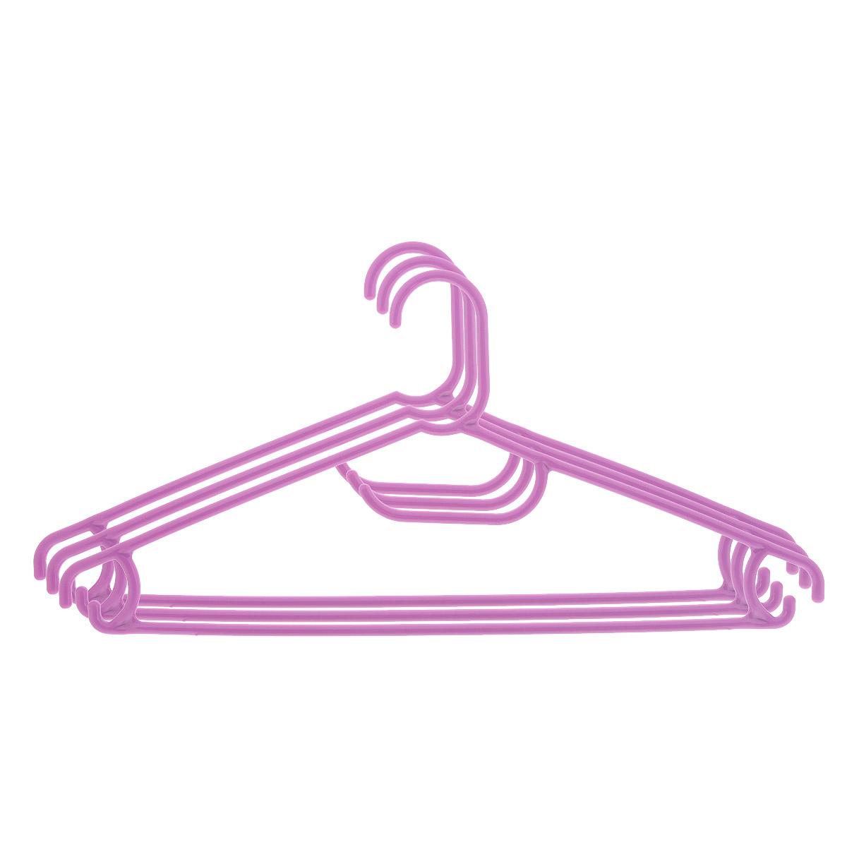 Набор вешалок Econova, цвет: фиолетовый, размер 48, 3 штС12354 фиолетовыйНабор Econova, выполненный из прочного пластика, состоит из 3 вешалок.Каждое изделие оснащено перекладиной, боковыми крючками, а также крючком для галстуков. Вешалка - это незаменимая вещь для того, чтобы ваша одежда всегда оставалась в хорошем состоянии.Комплектация: 3 шт.Размер одежды: 48.