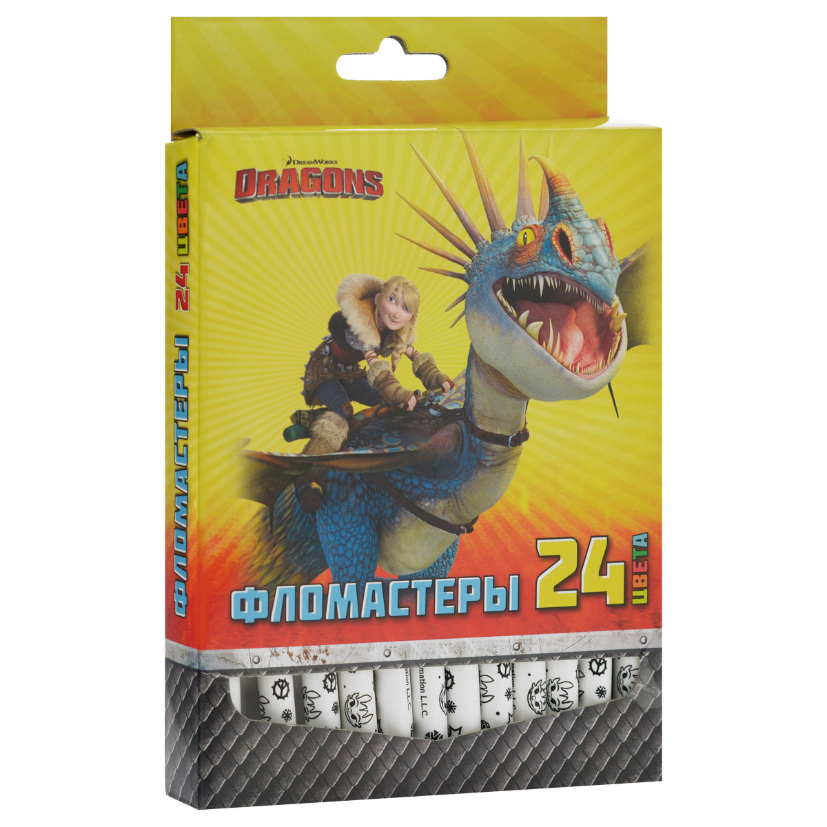 Фломастеры Action!  Dragons , 24 цвета -  Фломастеры