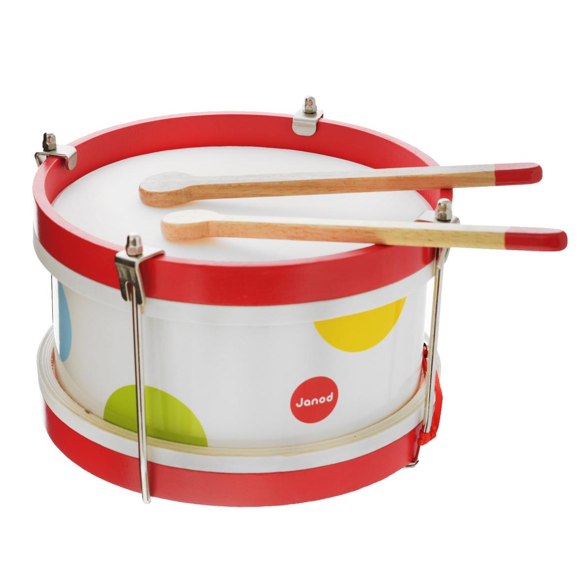 Janod Барабан цвет белый - Музыкальные инструменты