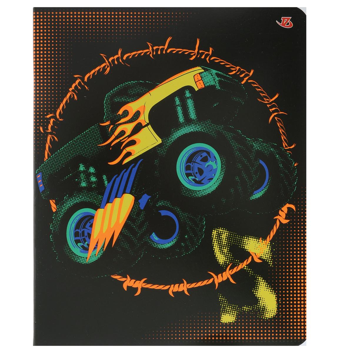 Тетрадь Внедорожник, цвет: черный, зеленый, желтый, 60 листов7227/5_Внедорожник(с дополнительным листом)FC-COC-643086Тетрадь Внедорожник прекрасно подойдет как студенту, так и школьнику.Обложка тетради с ярким изображением выполнена из мелованного картона с закругленными углами.Внутренний блок тетради состоит из 60 листов высококачественной бумаги повышенной белизны. Стандартная линовка в клетку дополнена полями. Первая страничка содержит поля для заполнения личных данных.