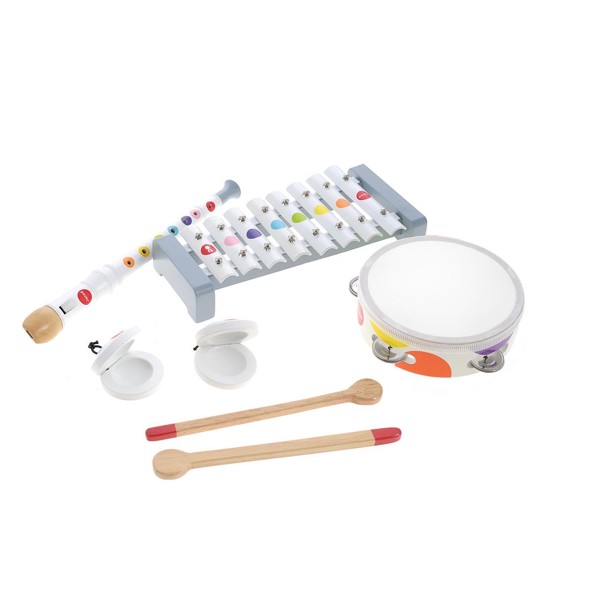 Janod Набор музыкальных инструментов Confetti 4 предмета - Музыкальные инструменты