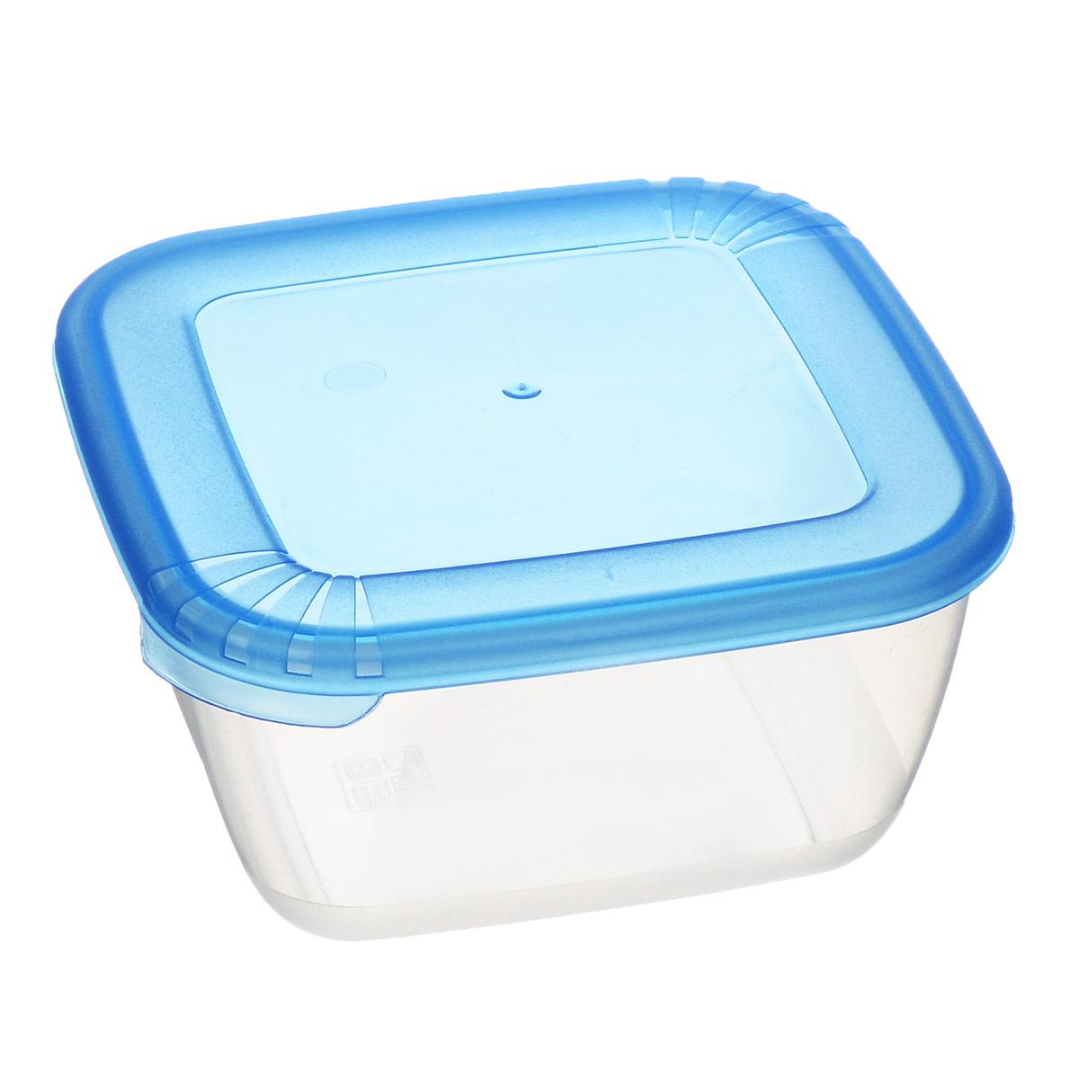 Контейнер для СВЧ Полимербыт Лайт, цвет: прозрачный, синий, 0,46 лС542 синийКвадратный контейнер для СВЧ Полимербыт Лайт изготовлен из высококачественного прочного пластика, устойчивого к высоким температурам до +120°С. Яркая цветная крышка плотно закрывается, дольше сохраняя продукты свежими и вкусными. Контейнер идеально подходит для хранения пищи, его удобно брать с собой на работу, учебу, пикник или просто использовать для хранения пищи в холодильнике. Можно использовать в микроволновой печи и для заморозки в морозильной камере при минимальной температуре -40°С. Можно мыть в посудомоечной машине.